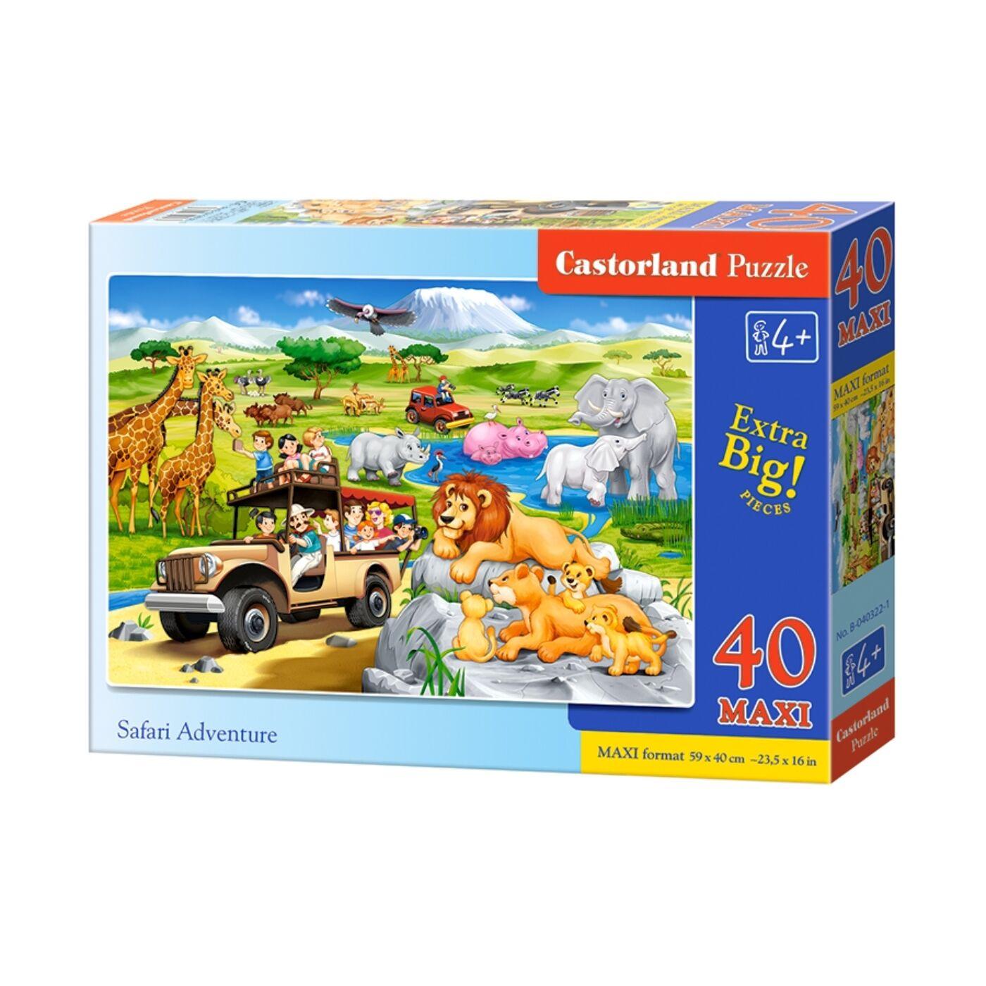 40 db-os Maxi puzzle – Szafari kaland