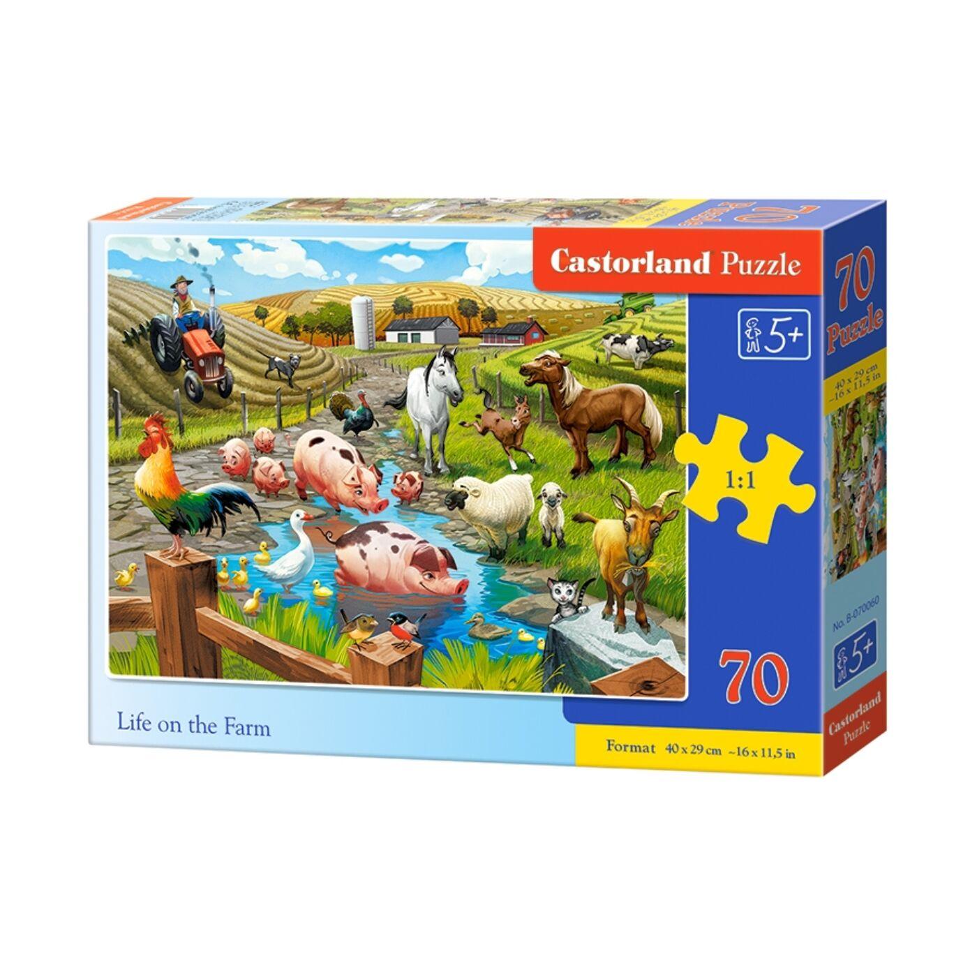 70 db-os puzzle - Élet a farmon