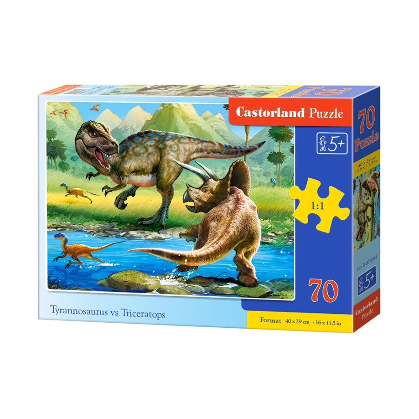 70 db-os puzzle - T-rex vs Triceratops