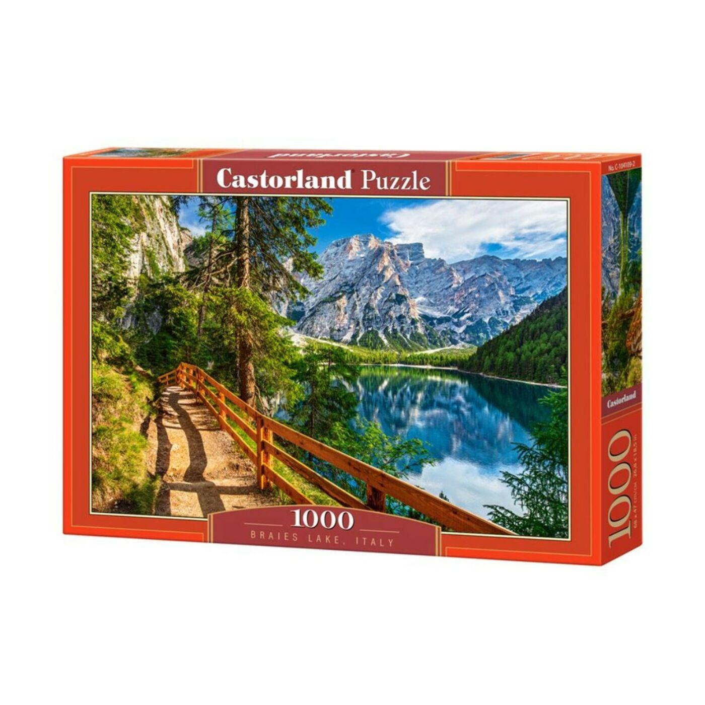 1000 db-os Castorland Puzzle - Braies tó, Olaszország