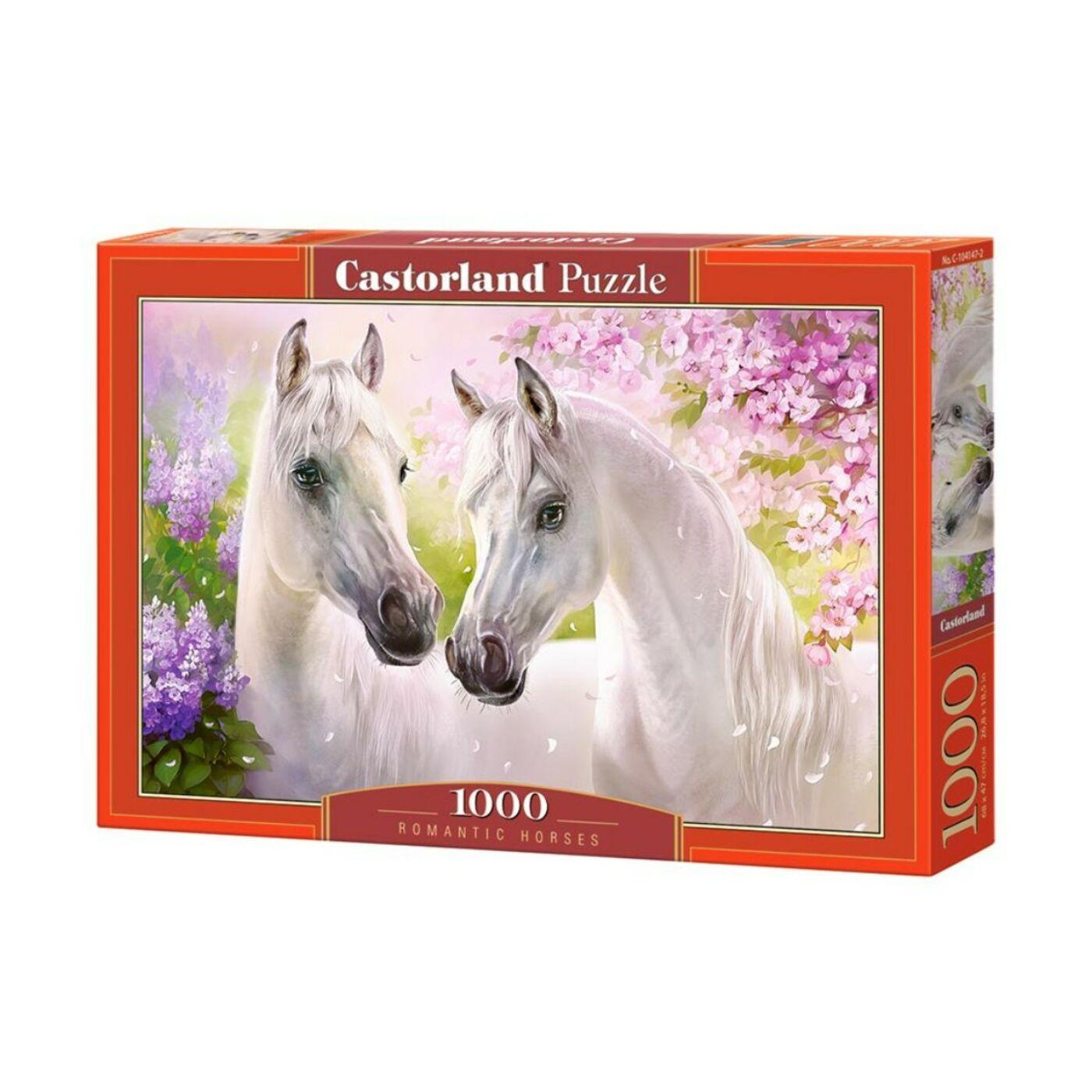 1000 db-os Castorland Puzzle - Romantikázó lovak