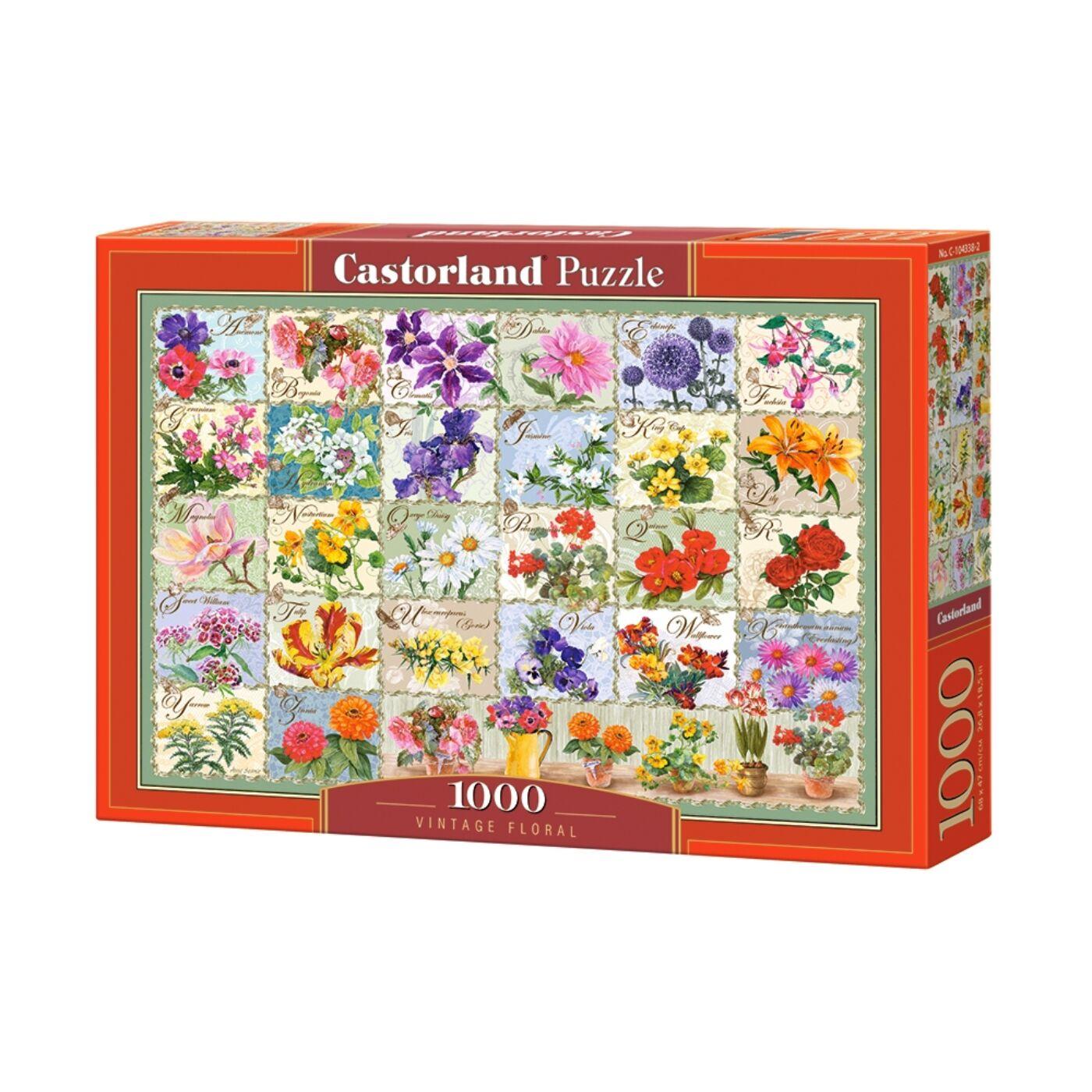 1000 db-os Castorland  Puzzle -  Vintage virágok