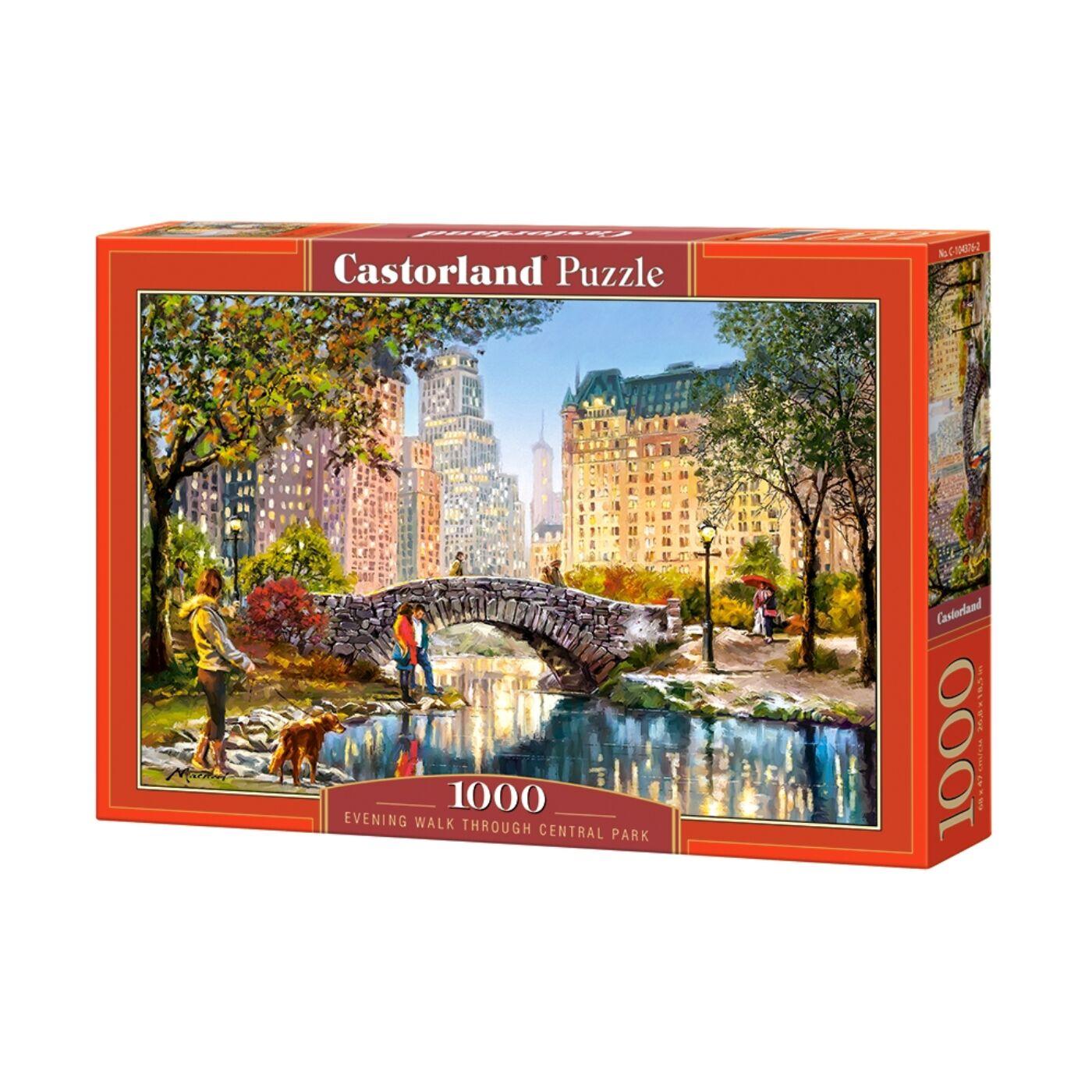 1000 db-os Castorland Puzzle -  Esti séta a Centrál Parkban