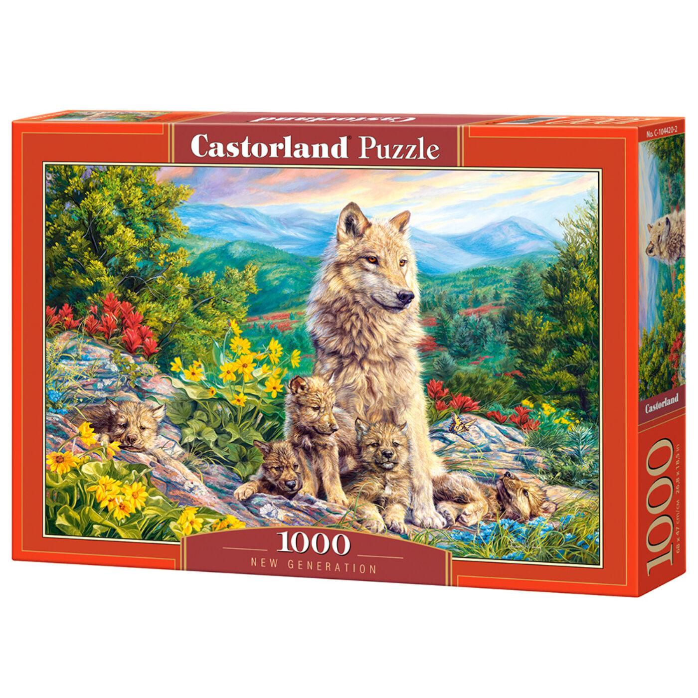 1000 db-os Castorland Puzzle -  Új generáció