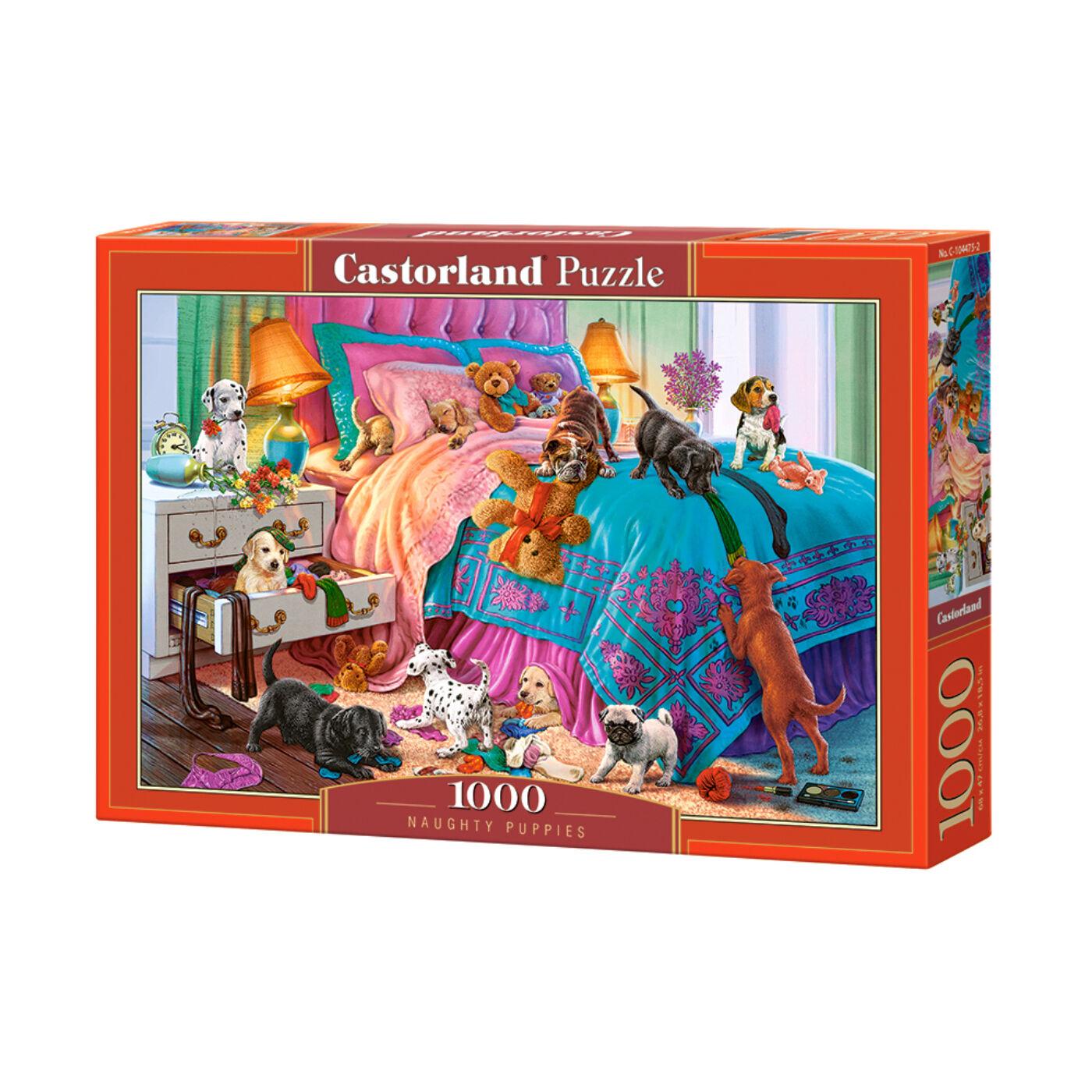 1000 db-os Castorland Puzzle - Huncut kölykök