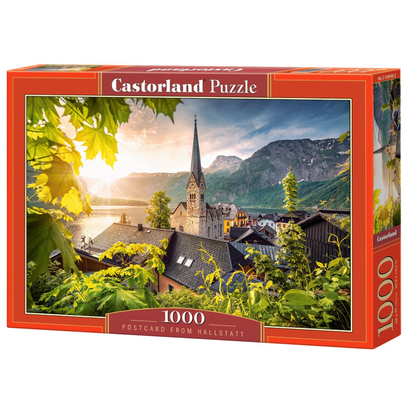 1000 db-os Castorland Puzzle -  Képeslap Hallstattból