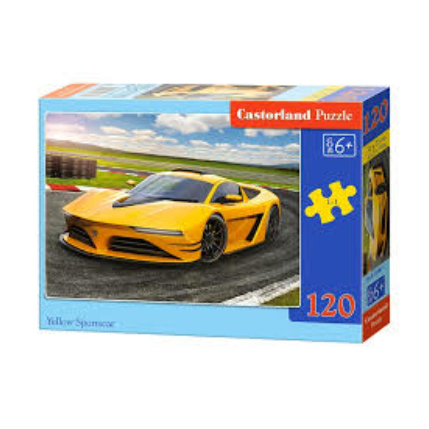 120 db-os Castorland puzzle - Sárga sportautó