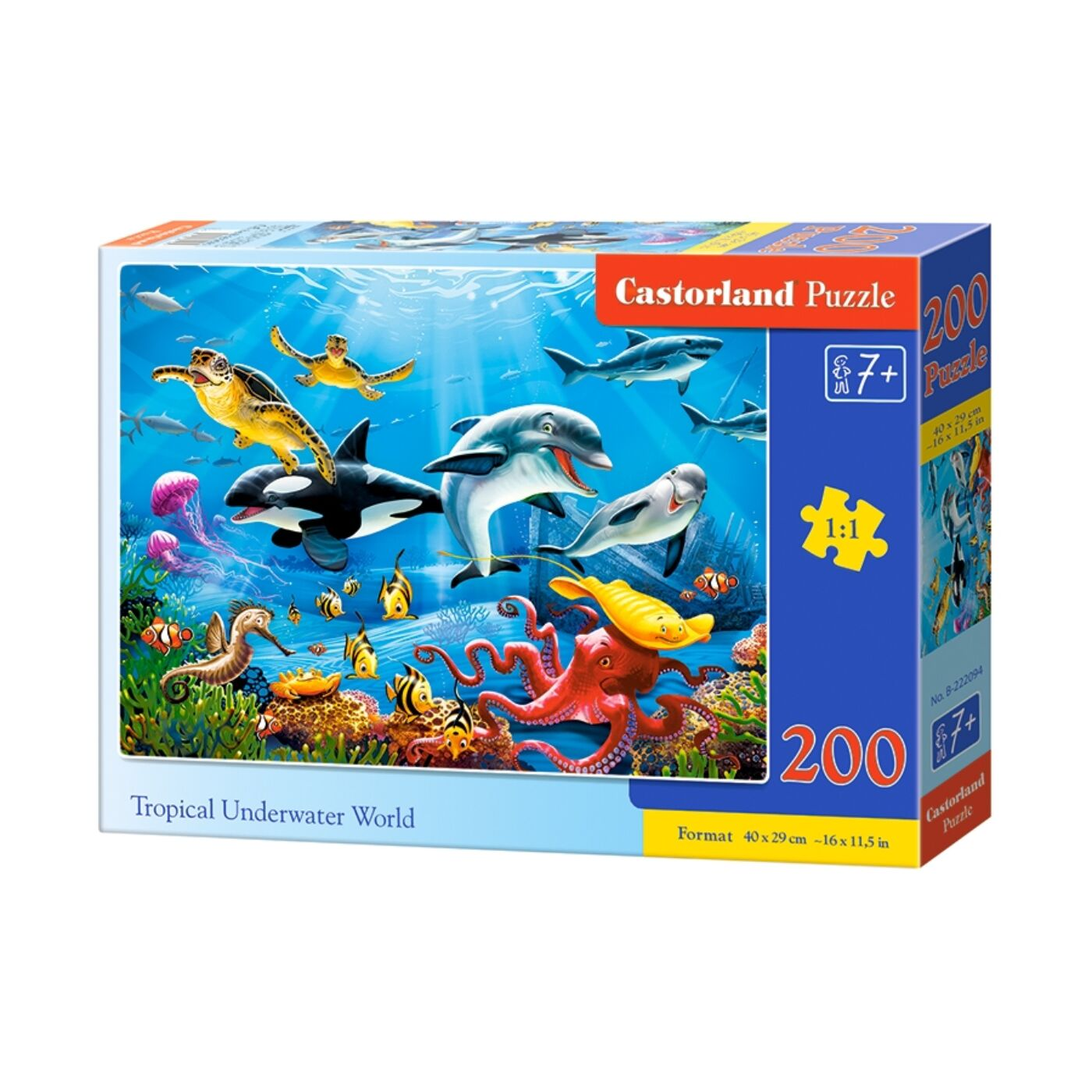 200 db-os puzzle - Trópusi vízeken