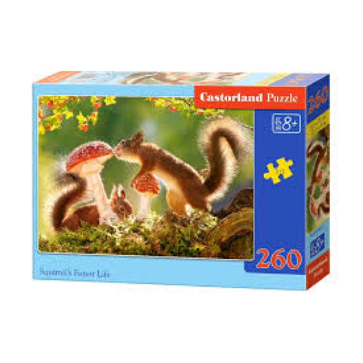 260 db-os puzzle - Mókusok élete