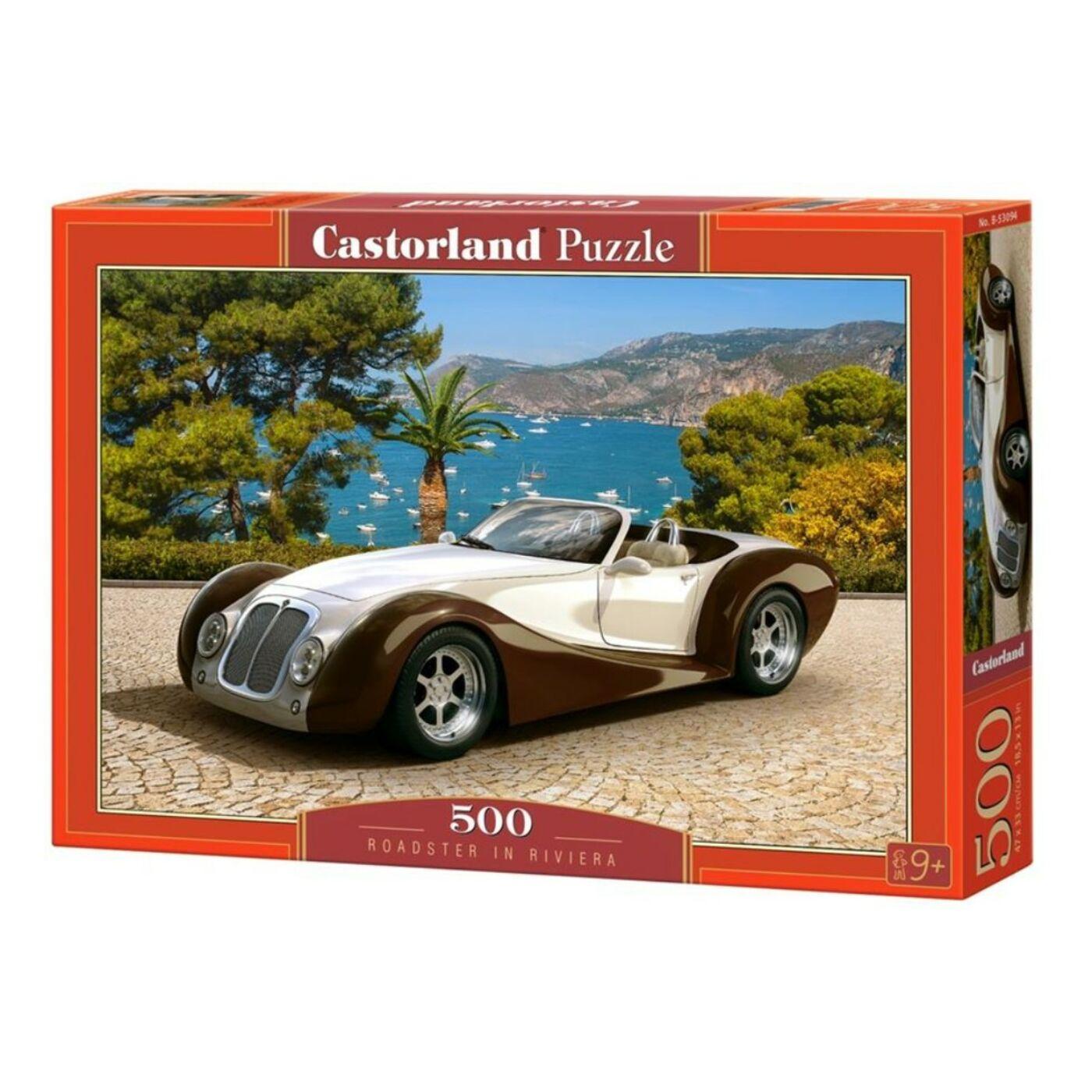 500 db-os puzzle - Sportkocsival a riviérán