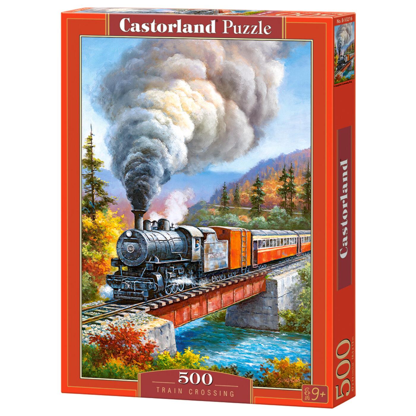 500 db-os puzzle - Vonatozás