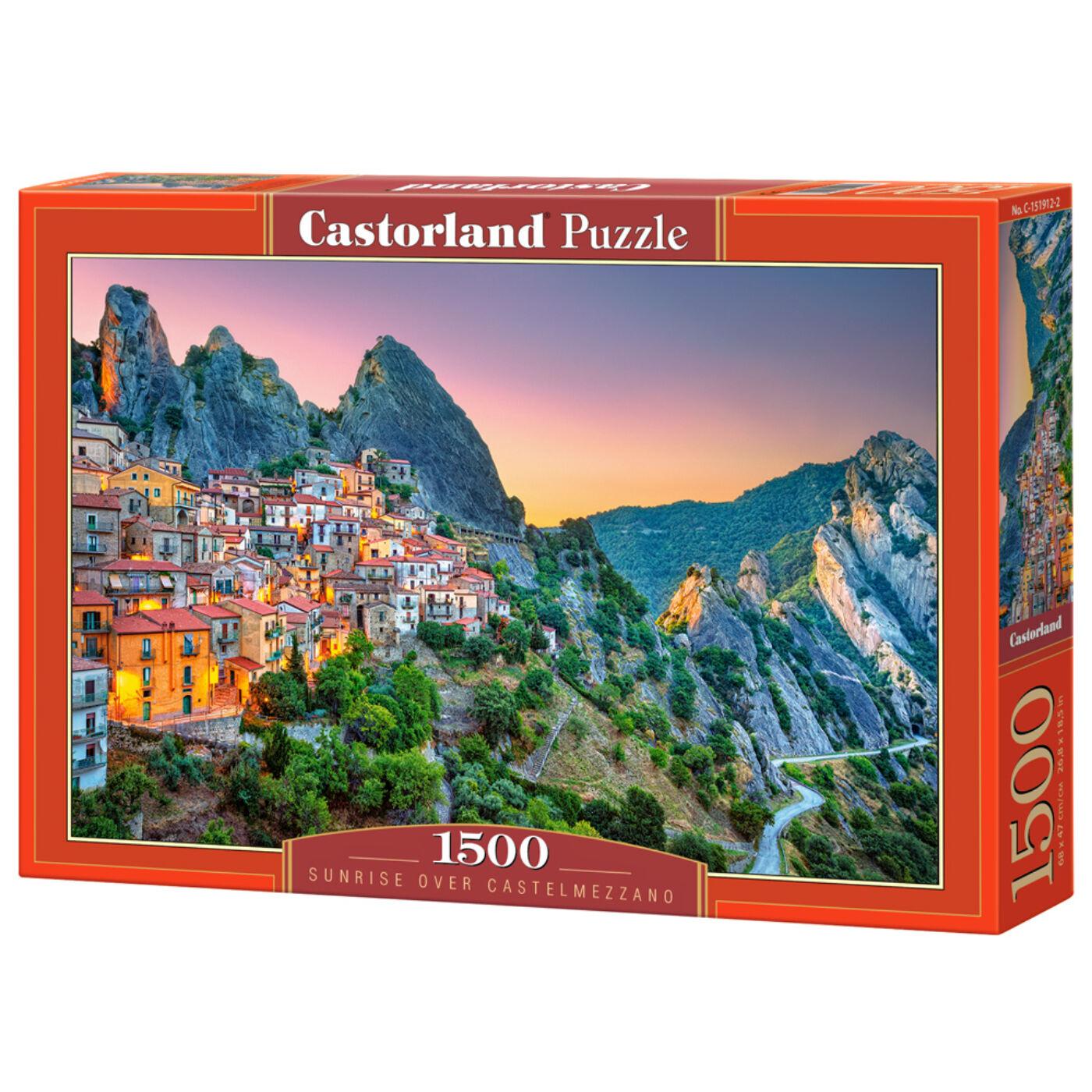 1500 db-os Castorland kirakó - Naplemente Castelmezzano - ban
