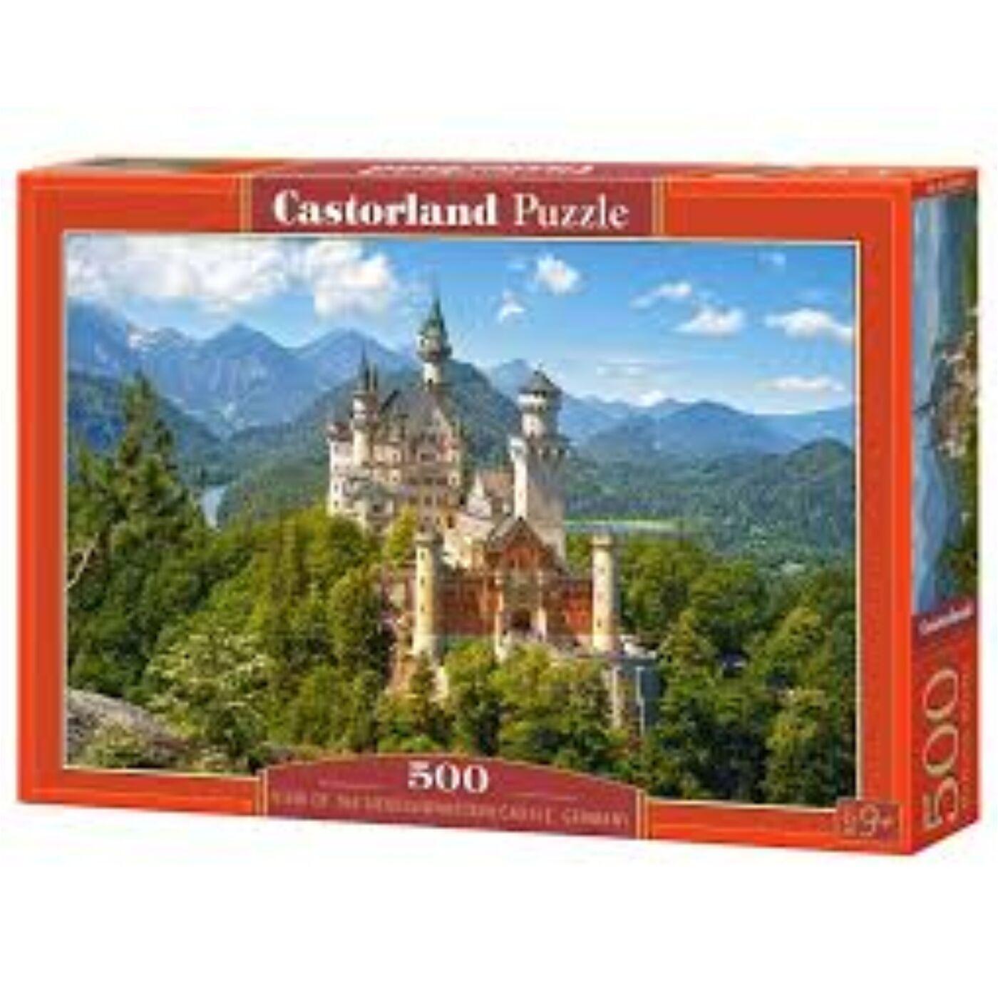 500 db-os puzzle - Neuschweinstein Kastély, Németország