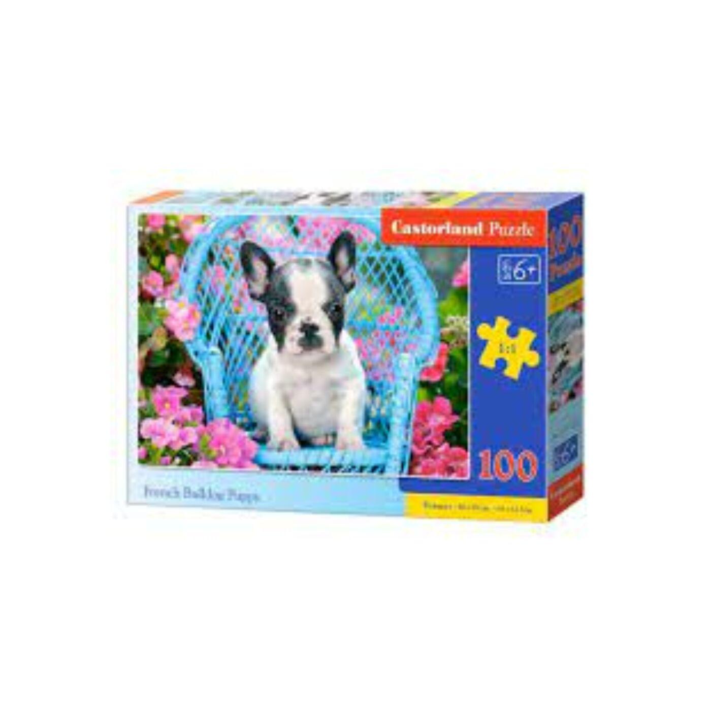 100 db-os Castorland puzzle - Francia bulldog kölyök