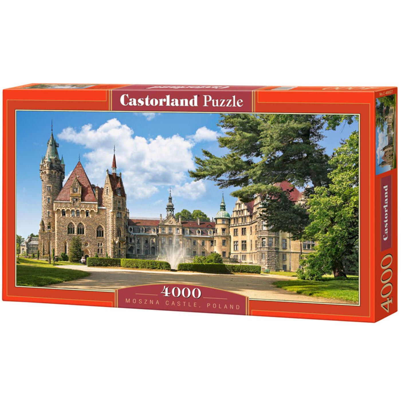 4000 db-os puzzle – Moszna kastély, Lengyelország