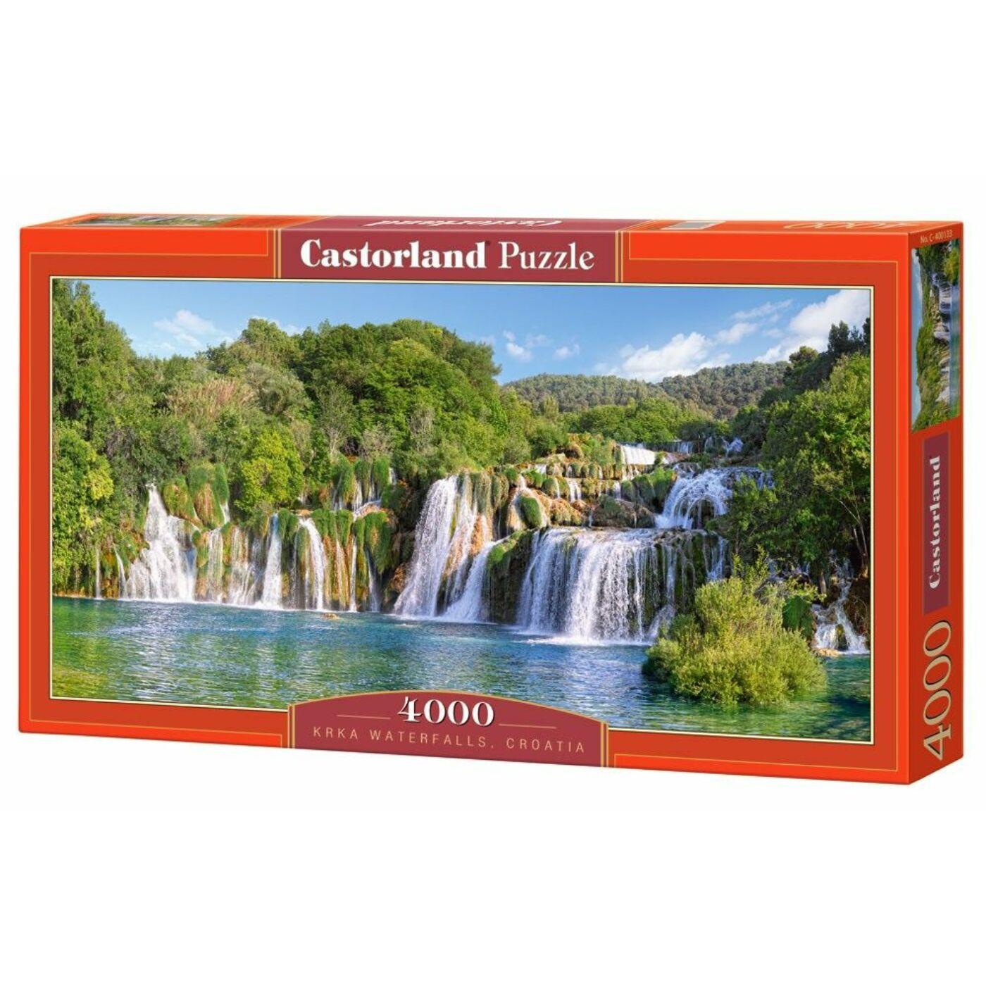 4000 db-os puzzle - Krka vízesés, Horvátország