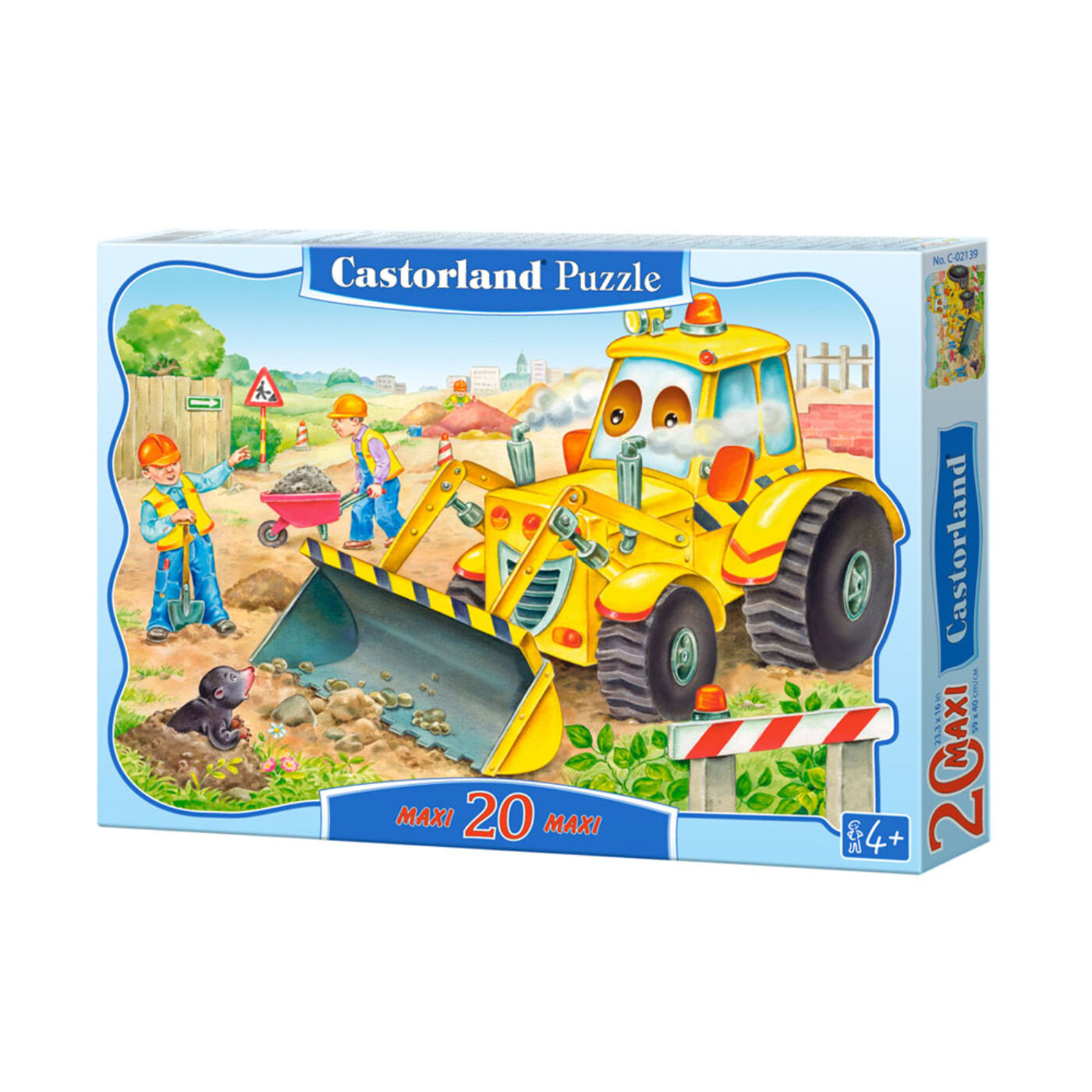 20 db-os puzzle – Bulldózer munkában