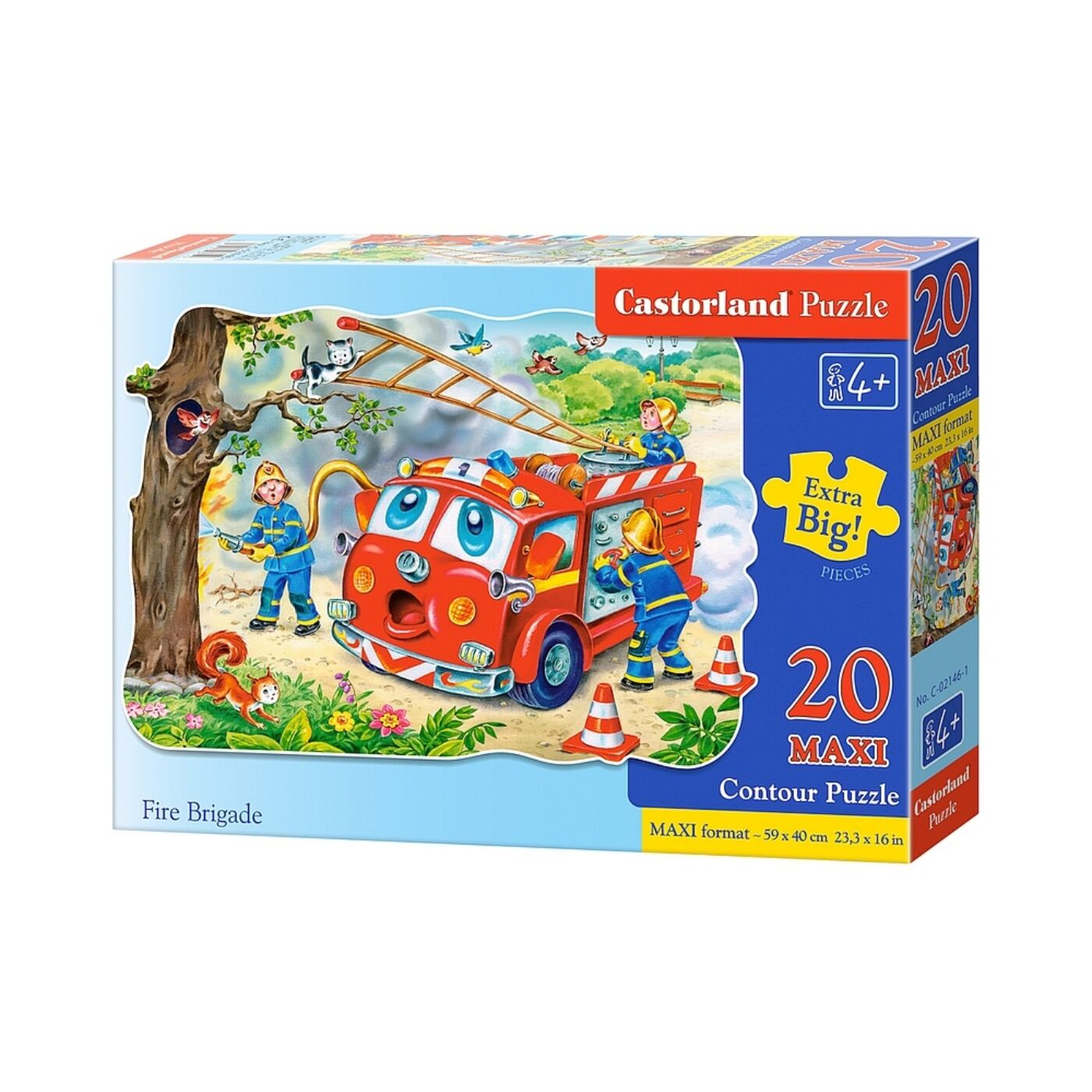 20 db-os puzzle – Tűzoltó brigád