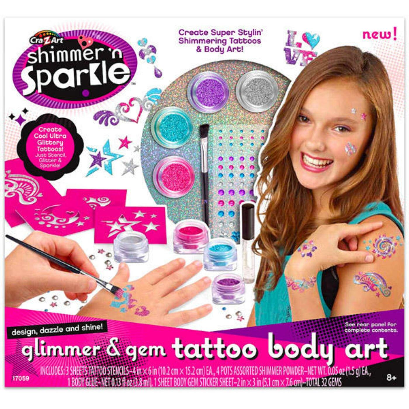 Szuper Divat Csillám tetováló készlet