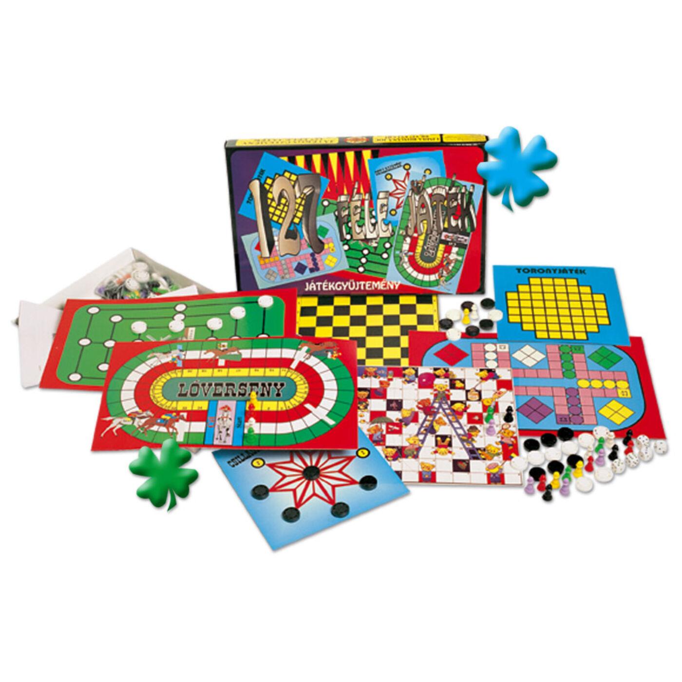 Játékgyűjtemény 127 féle