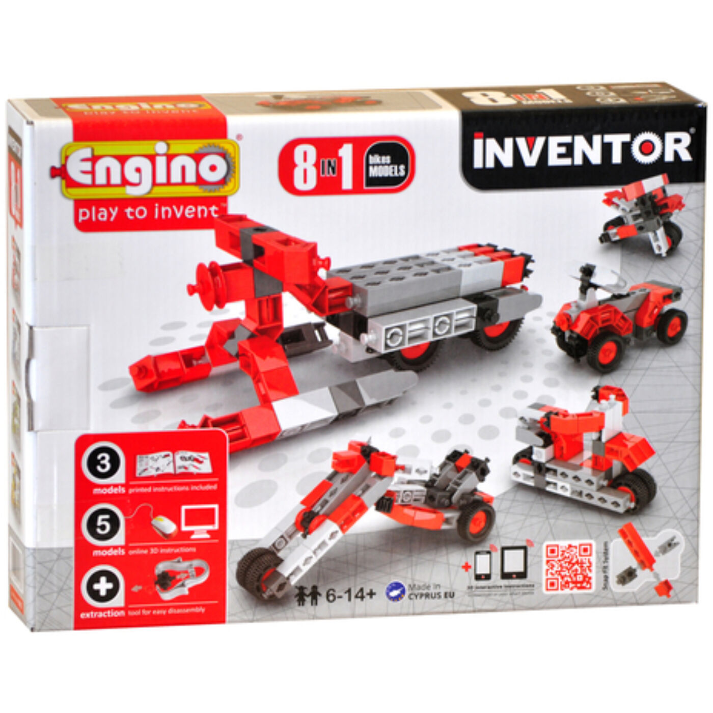 Engino Inventor motorok 8in1