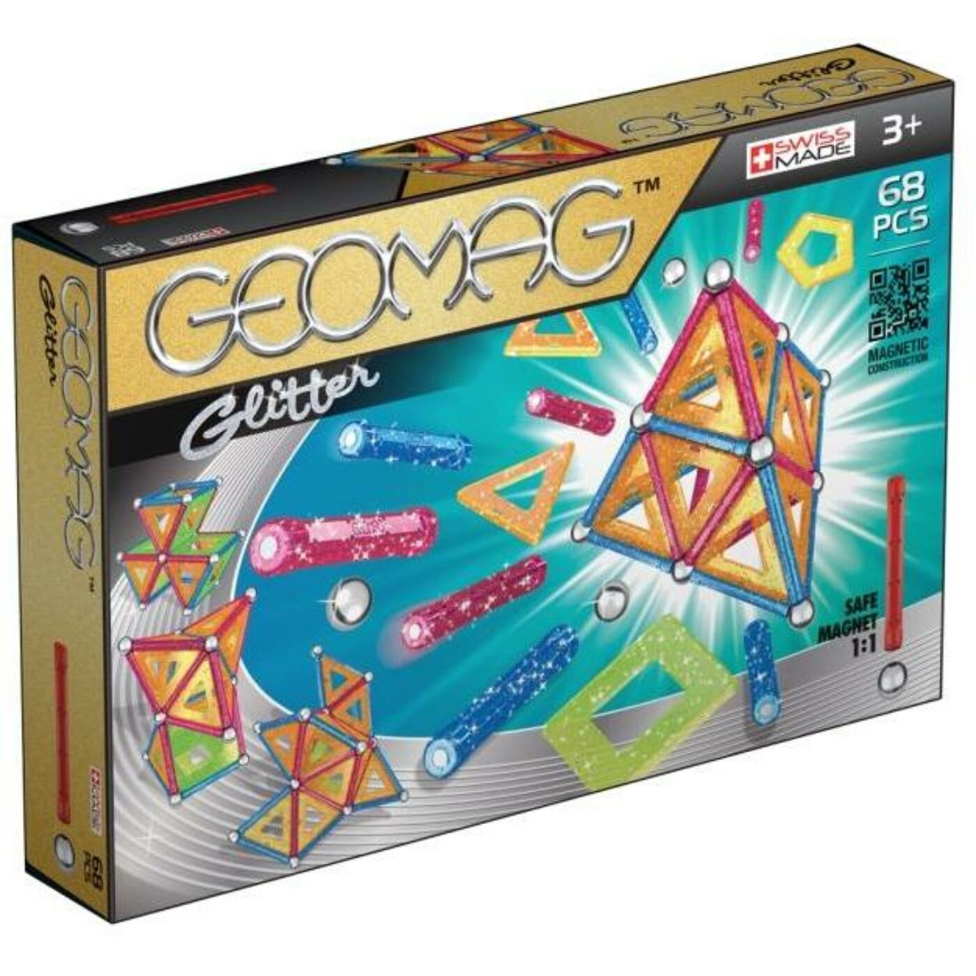Geomag Panels csillogós 68 db