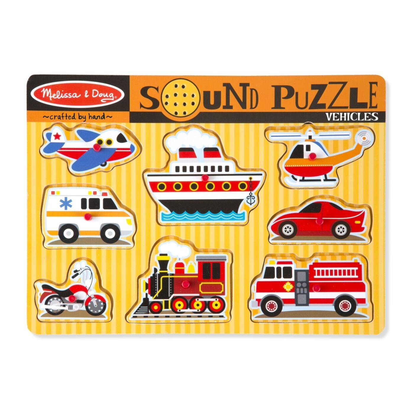 Hangos puzzle-járművek