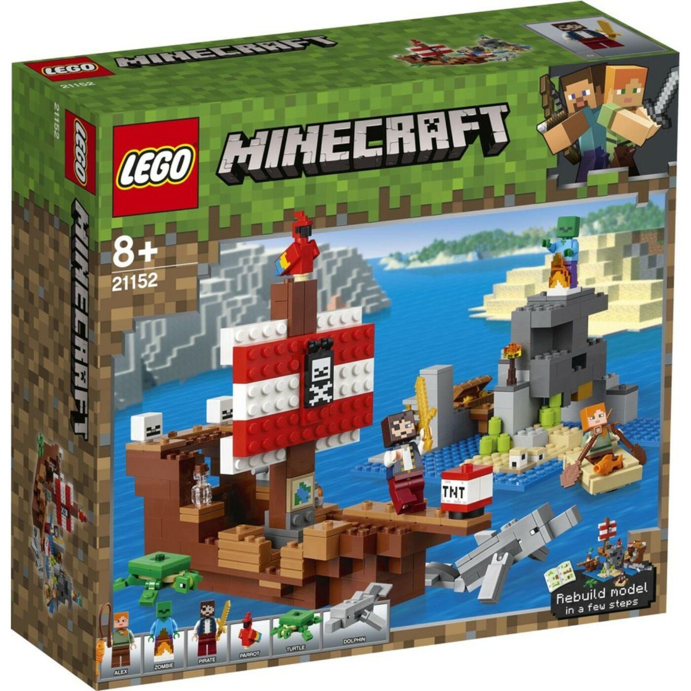 Lego Minecraft A kalózhajós kaland