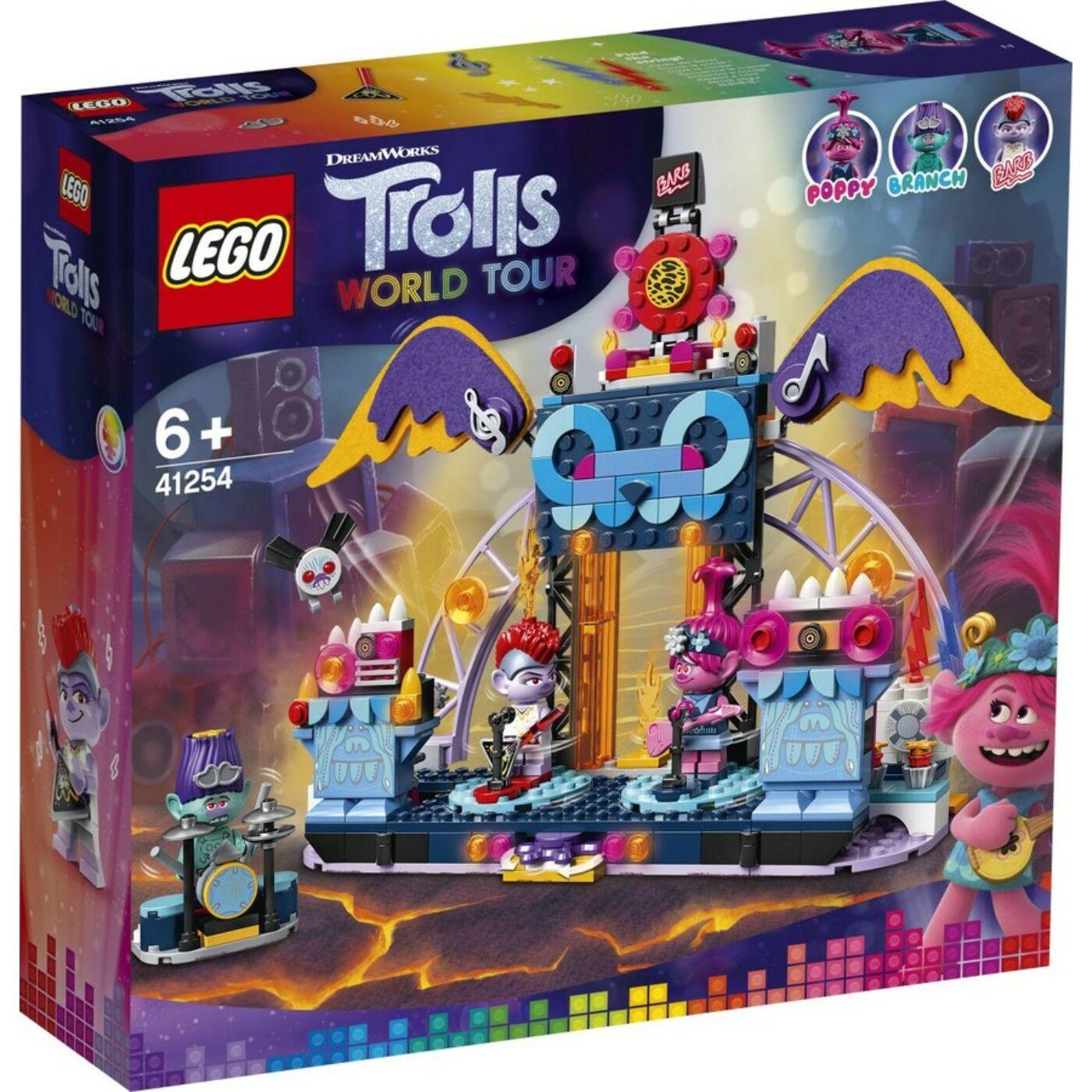 Lego Trolls Vulkán Rock City koncert