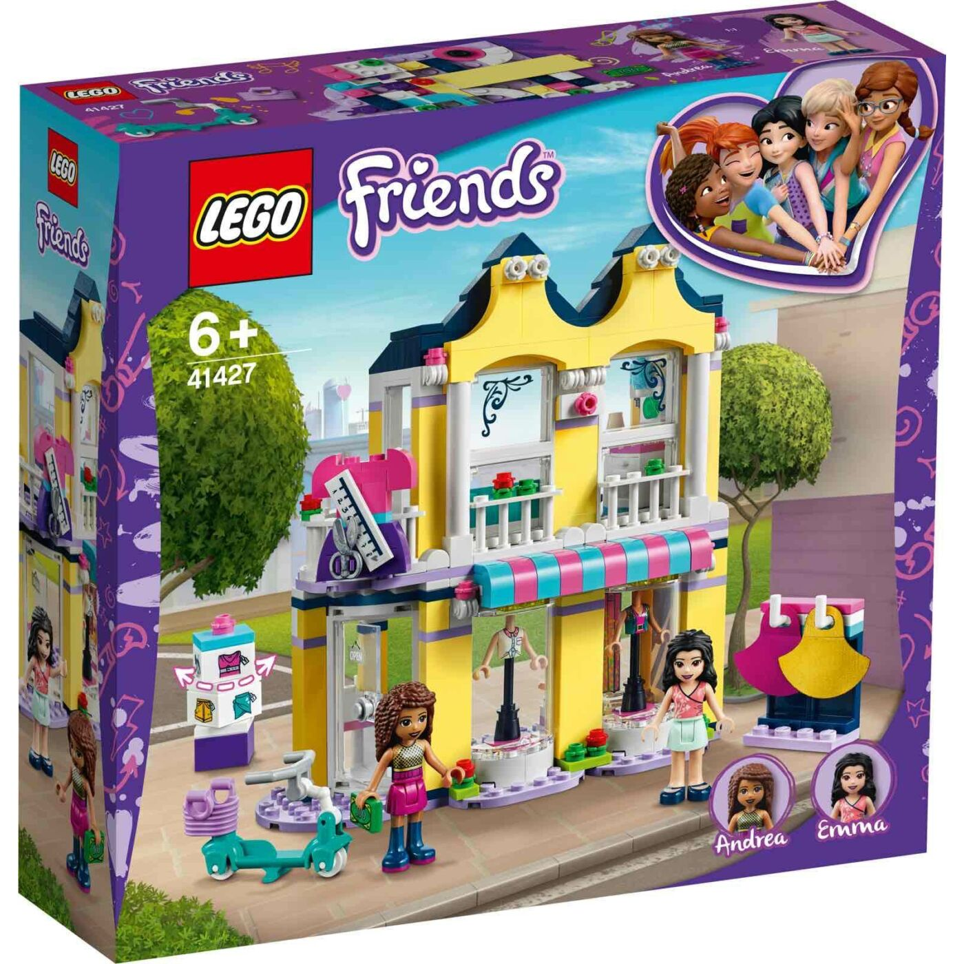 Lego Friends Emma ruhaboltja