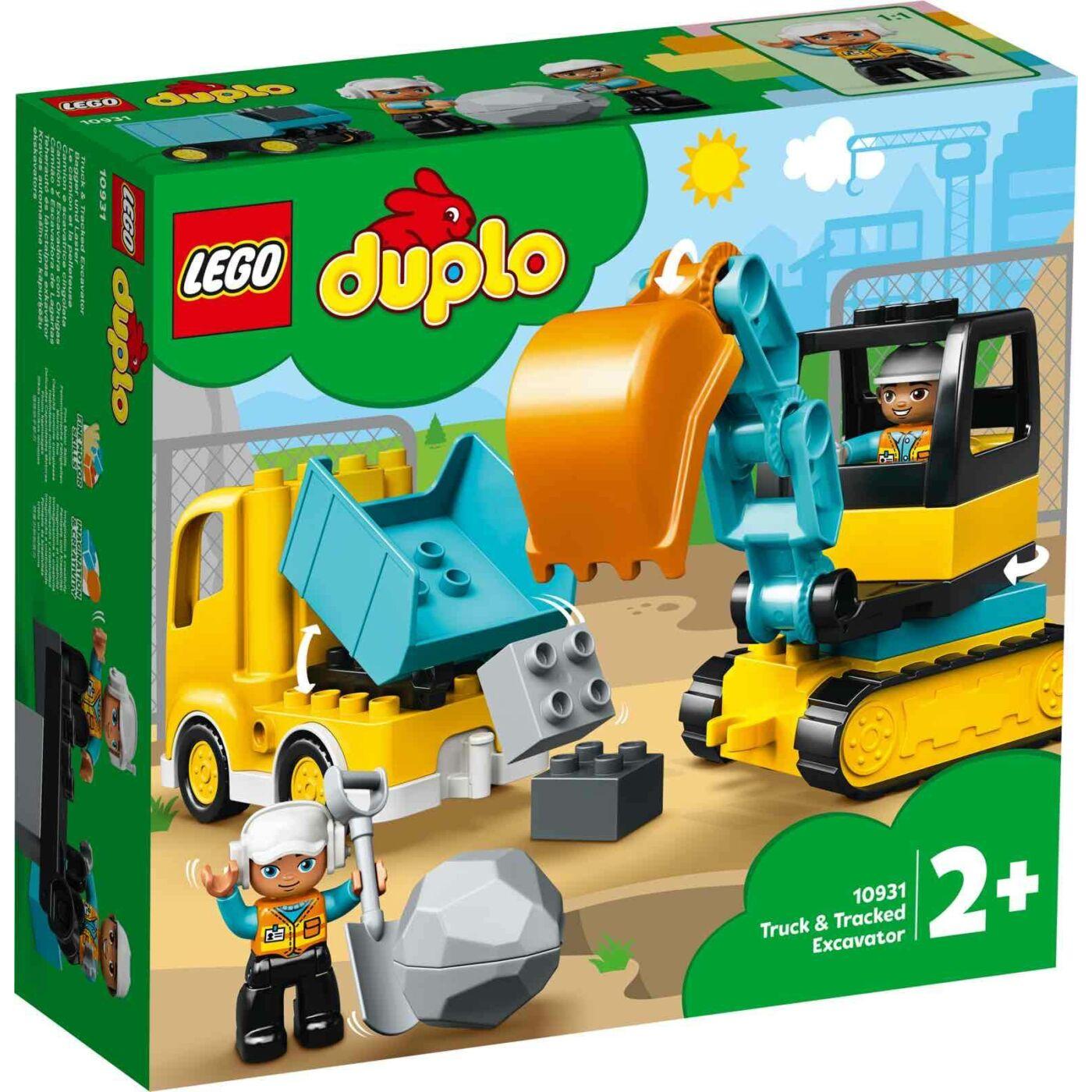 Lego Duplo Teherautó és lánctalpas exkavátor