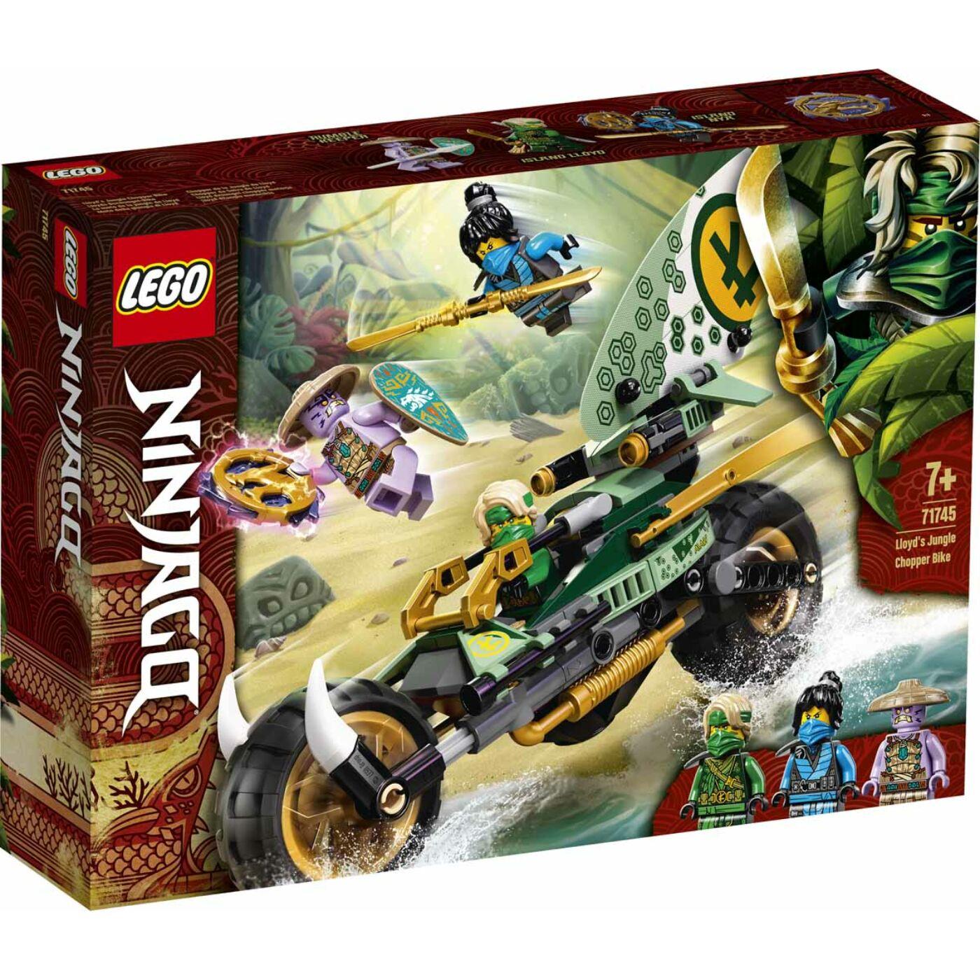 Lego Ninjago Lloyd dzsungel chopper motorja
