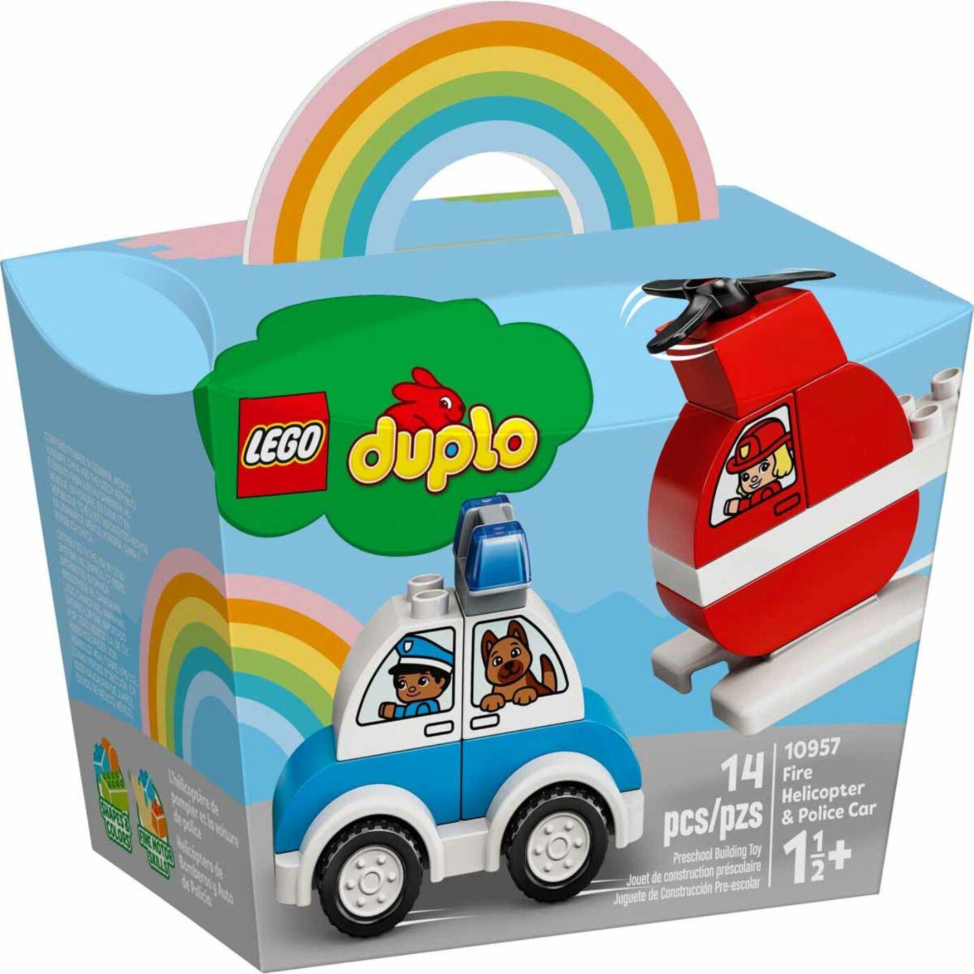 Lego Duplo Tűzoltó helikopter és rendőrautó