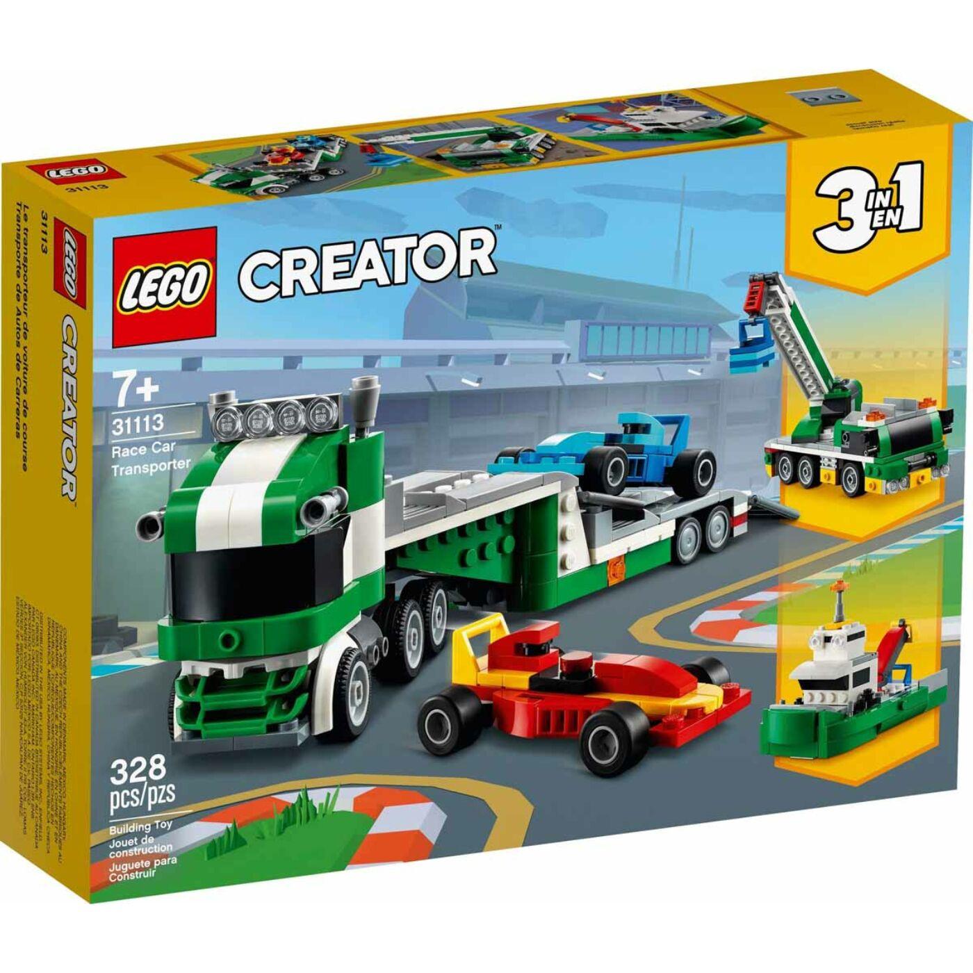 Lego Creator Versenyautó szállító