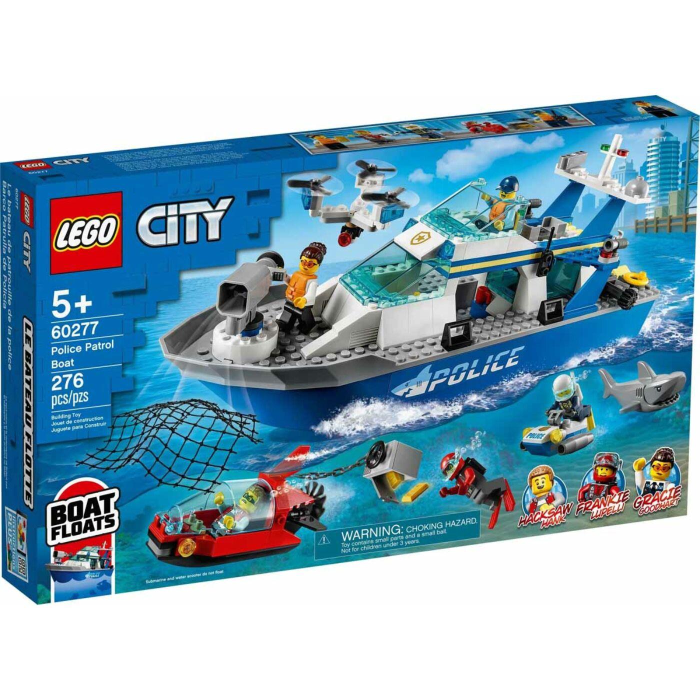 Lego City Rendőrségi járőrcsónak