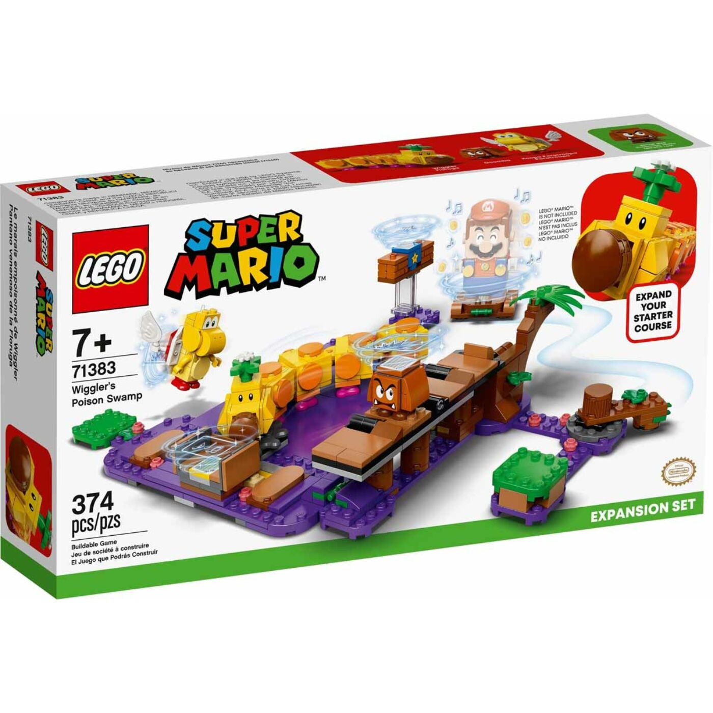 Lego Super Mario Wiggler Mérgező mocsara