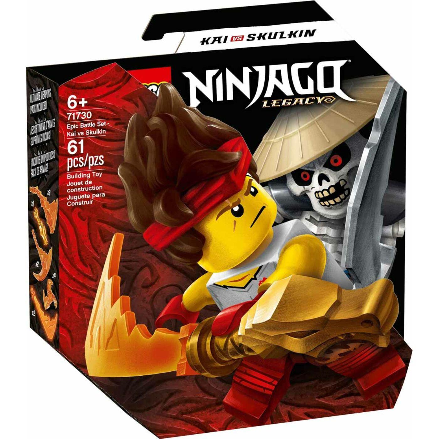 Lego Ninjago Hősi harci készlet Kai vs Skulkin