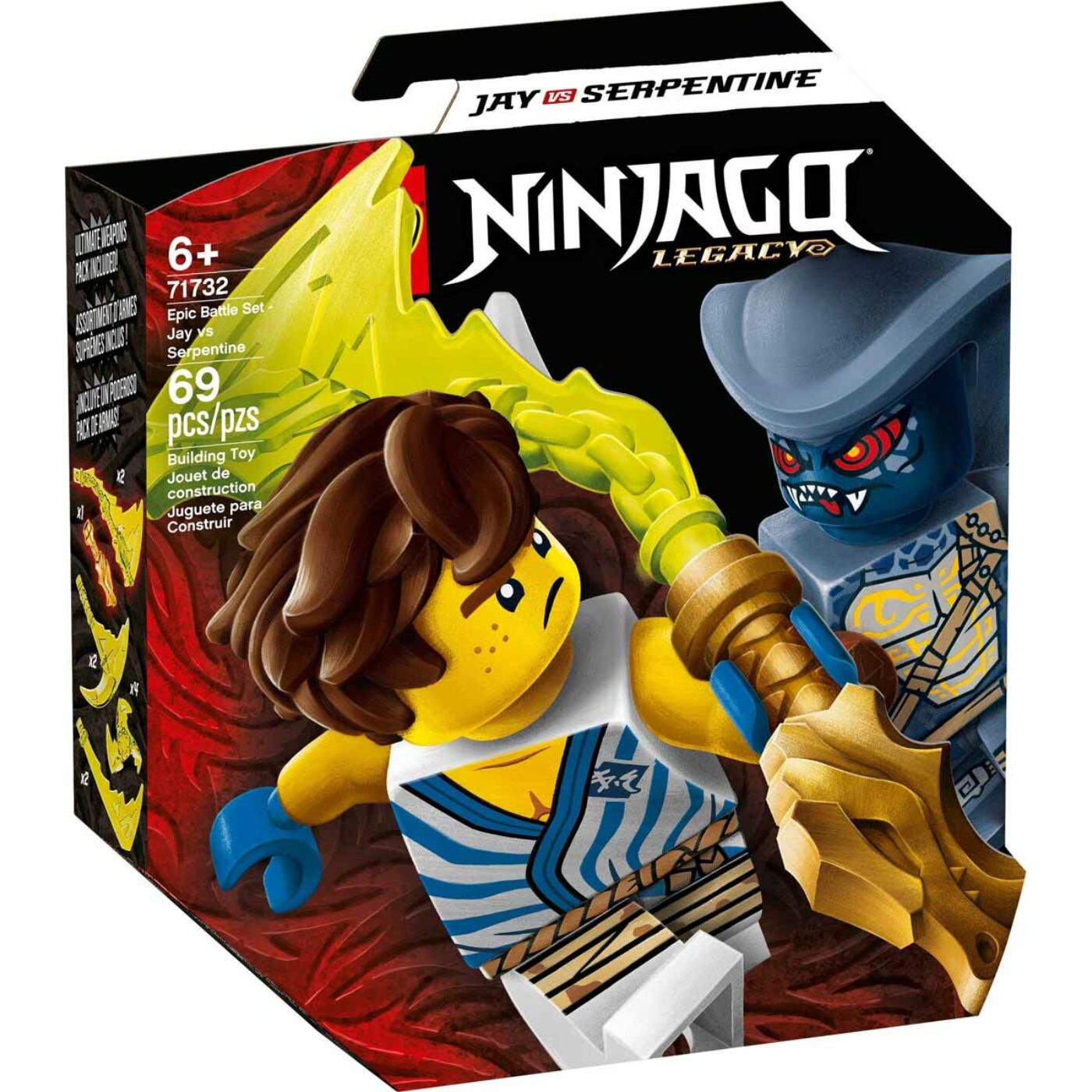 Lego Ninjago Hősi harci készlet Jay vs Serpentine