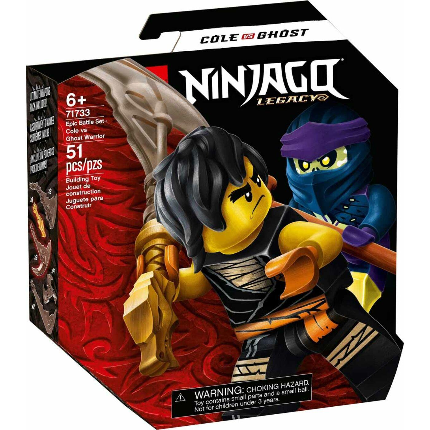 Lego Ninjago Hősi harci készlet Cole vs Kísértethar