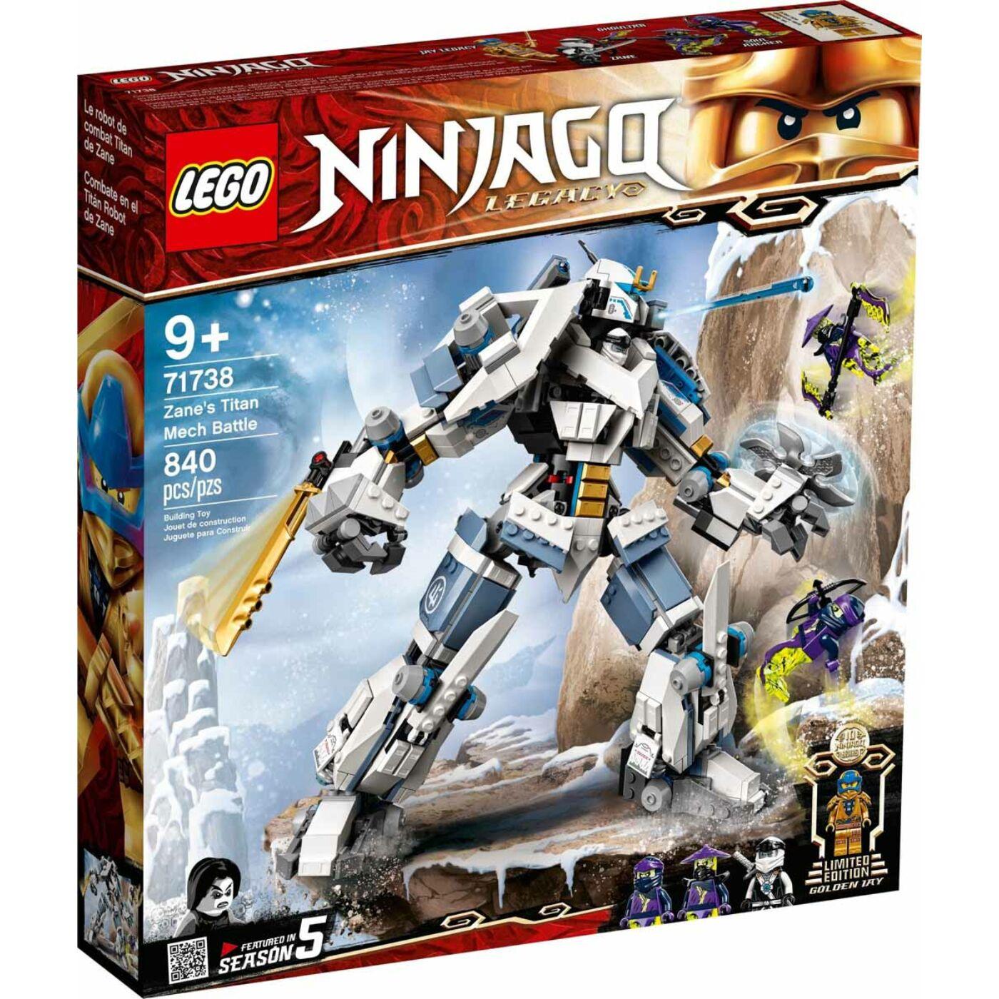 Lego Ninjago Zane mechanikus titánjának családja
