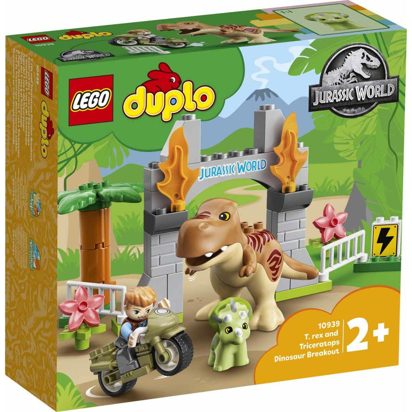 Lego Duplo T-rex és triceratops dinoszaurusz szökés