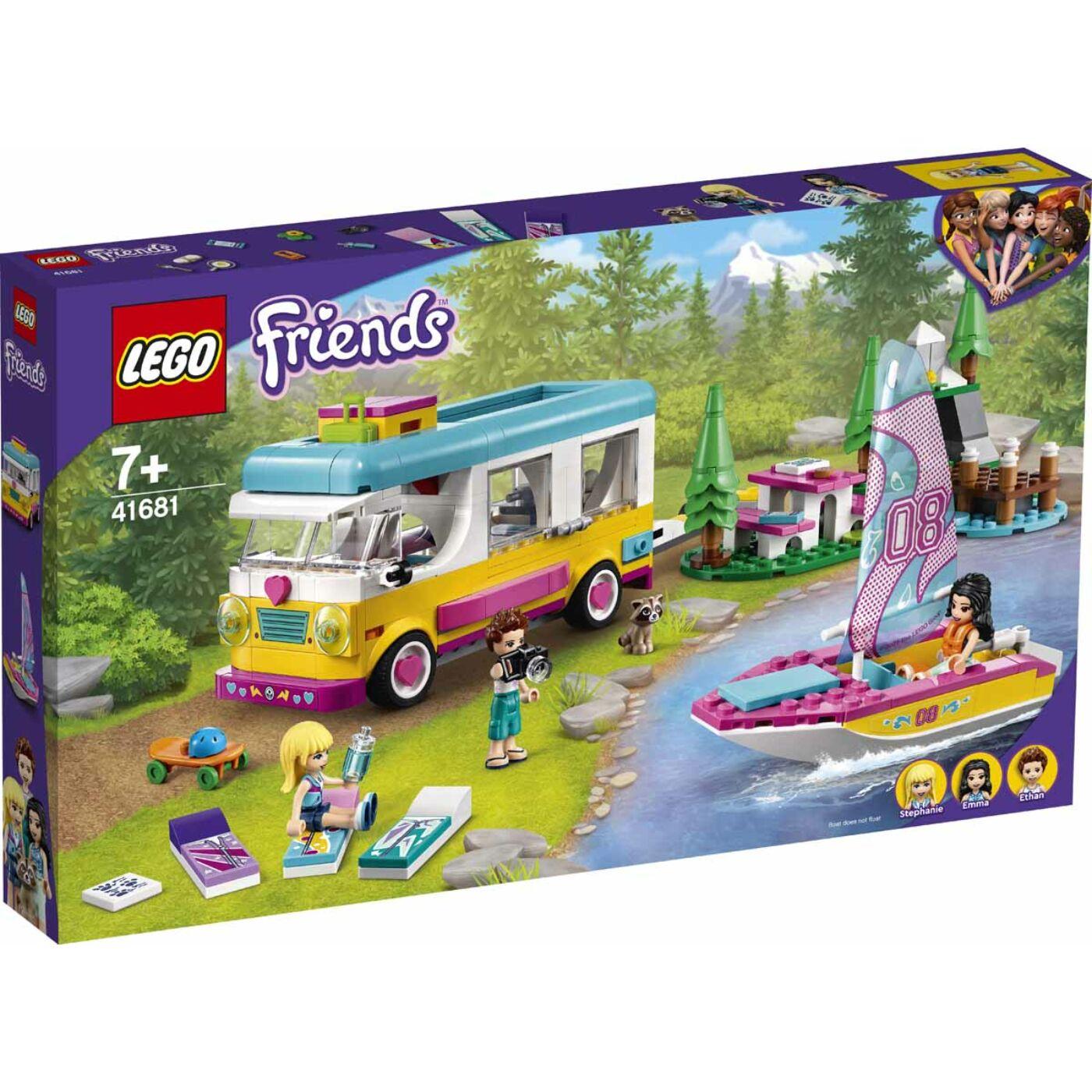 Lego Friends Erdei lakóautó és vitorlás