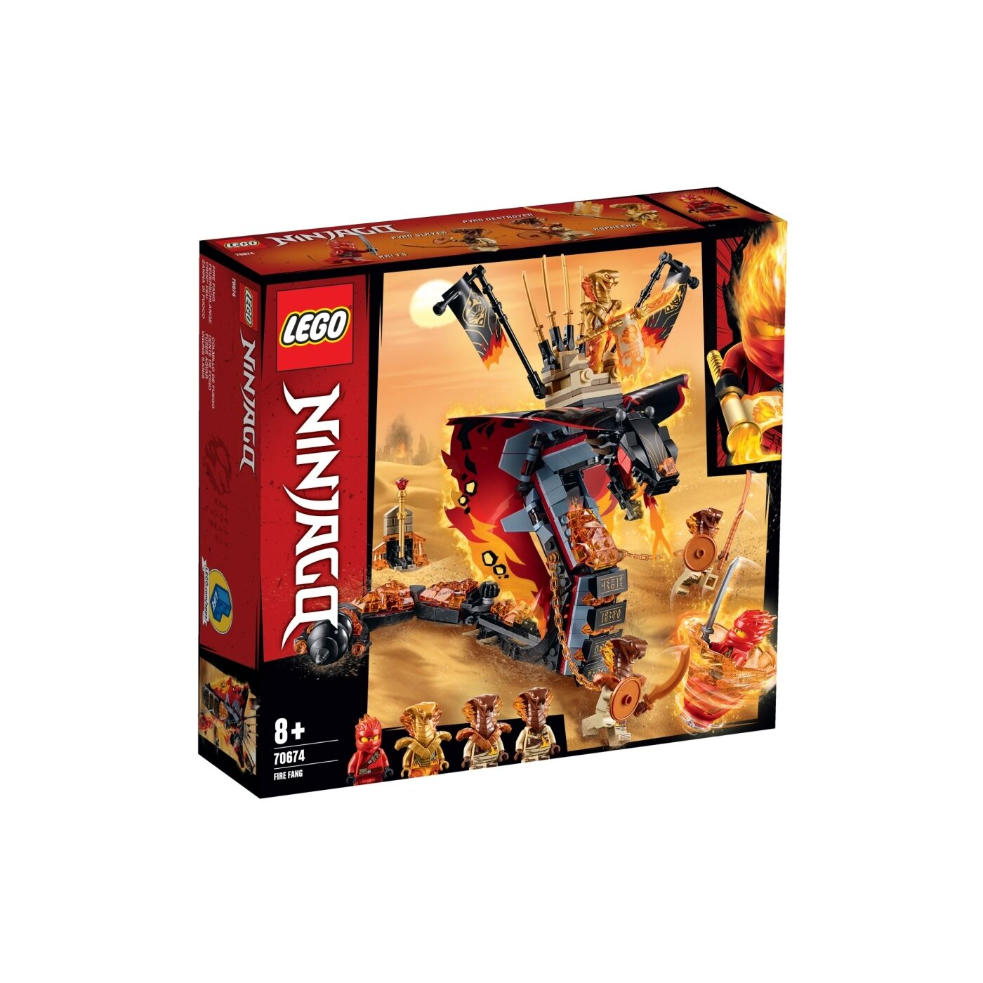 Lego Ninjago Tüzes agyar