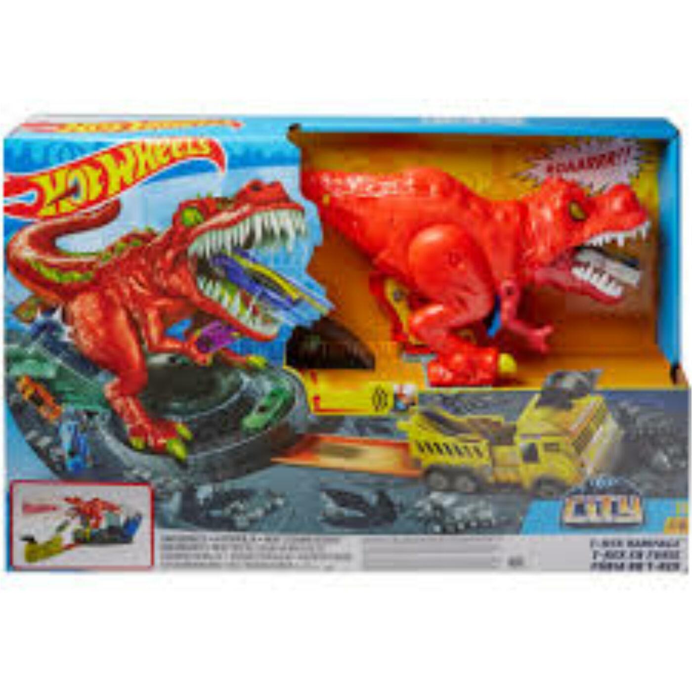 Hot Wheels T-rex zúzó pálya