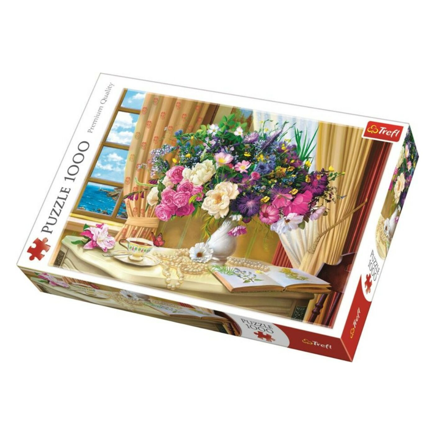 Trefl 1000db-os puzzle -  Reggeli virágok