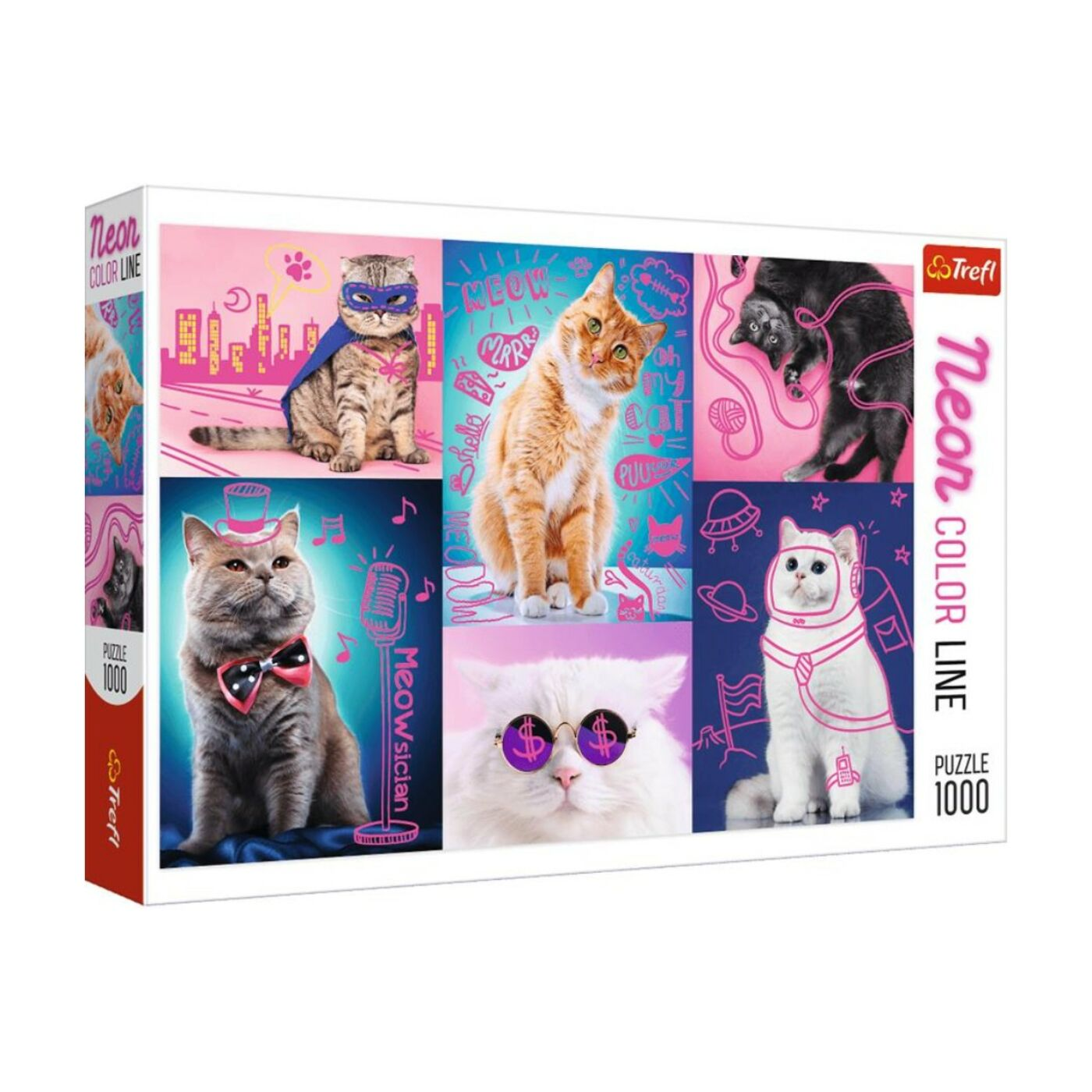 Trefl 1000db-os puzzle - Macskák