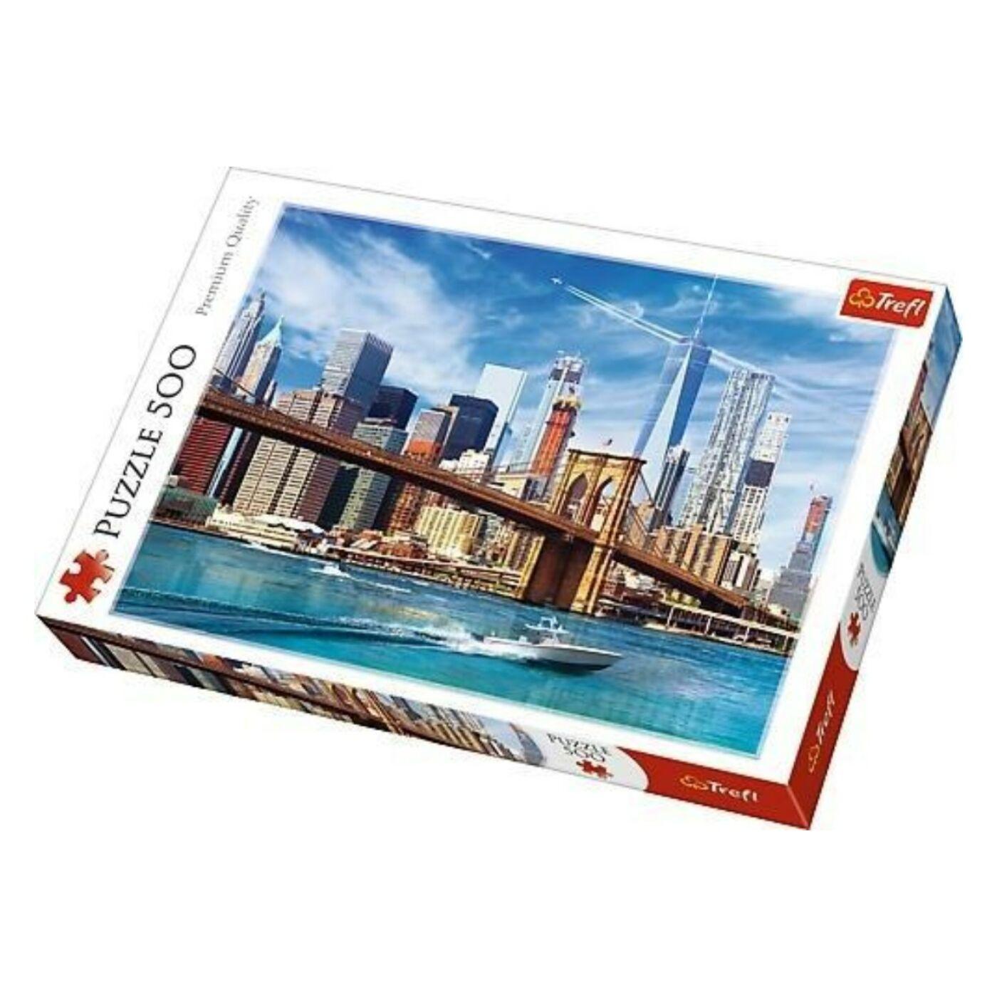 Trefl 500 db-os puzzle - New York-i kilátás