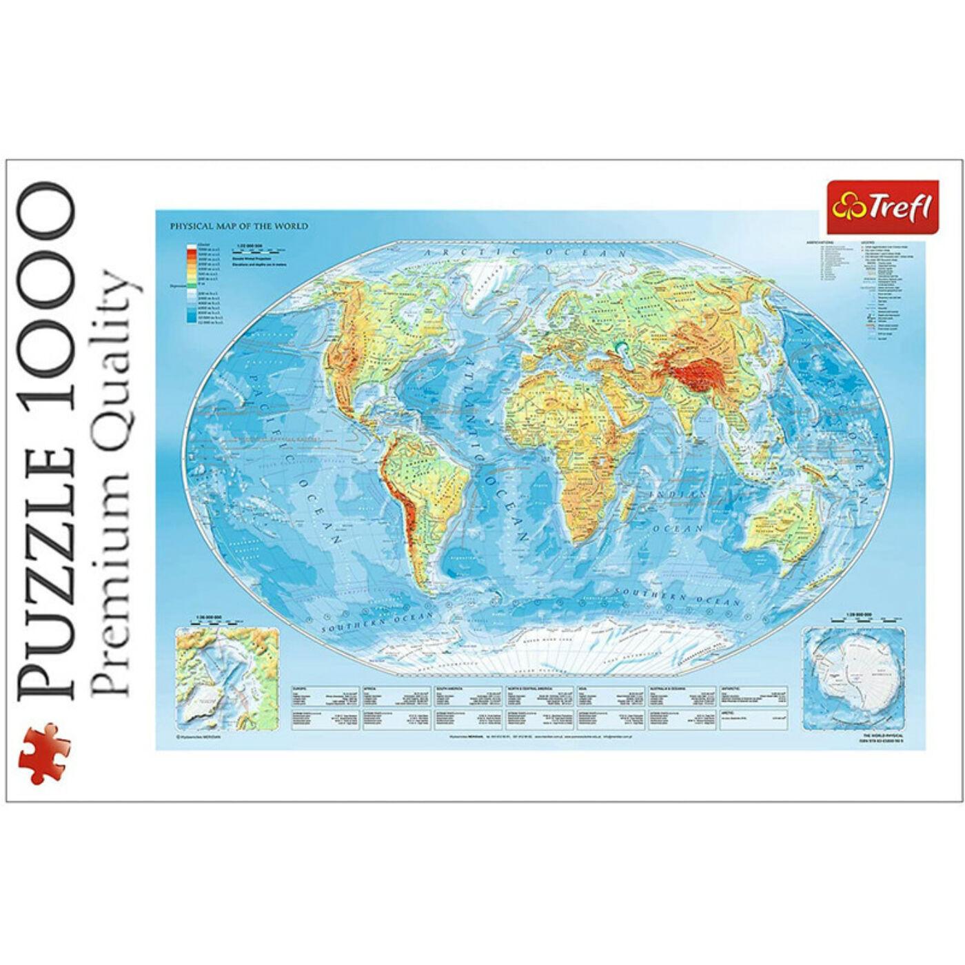 1000 db-os puzzle-Világtérkép