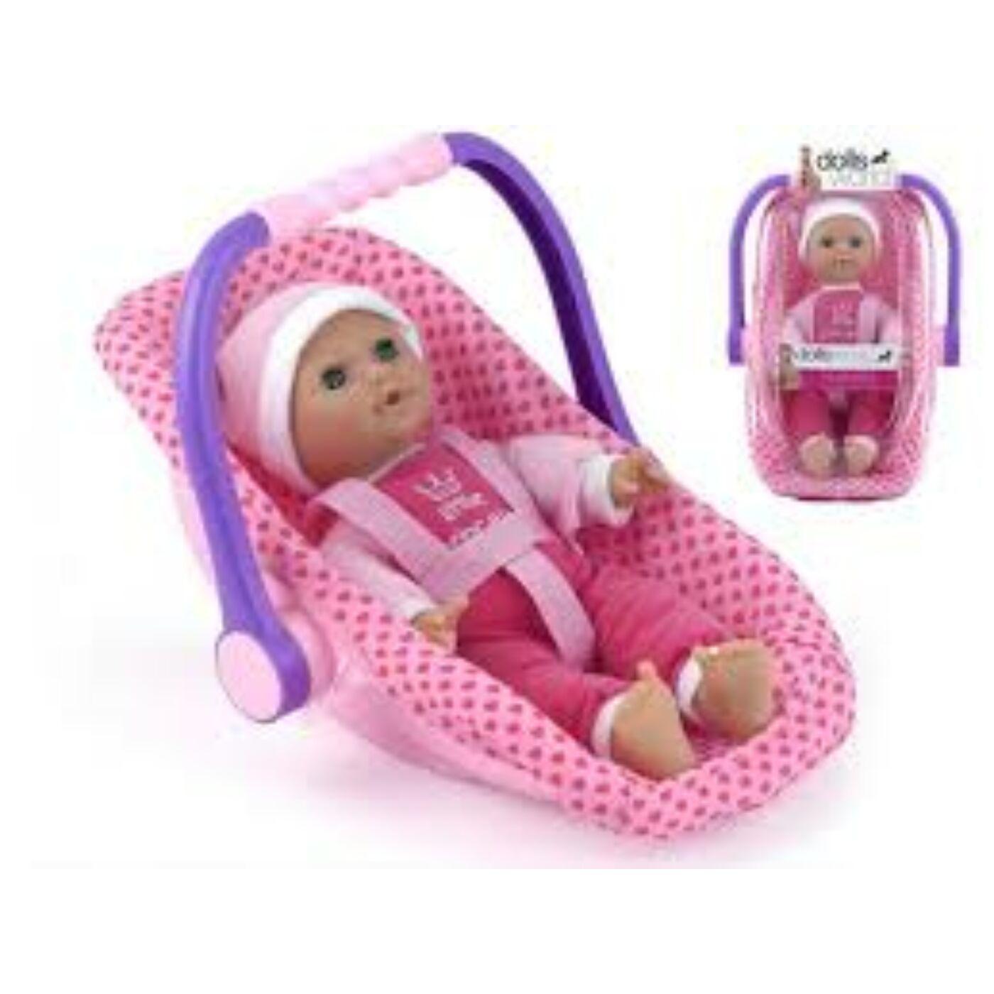 Isabella baba hordozóval