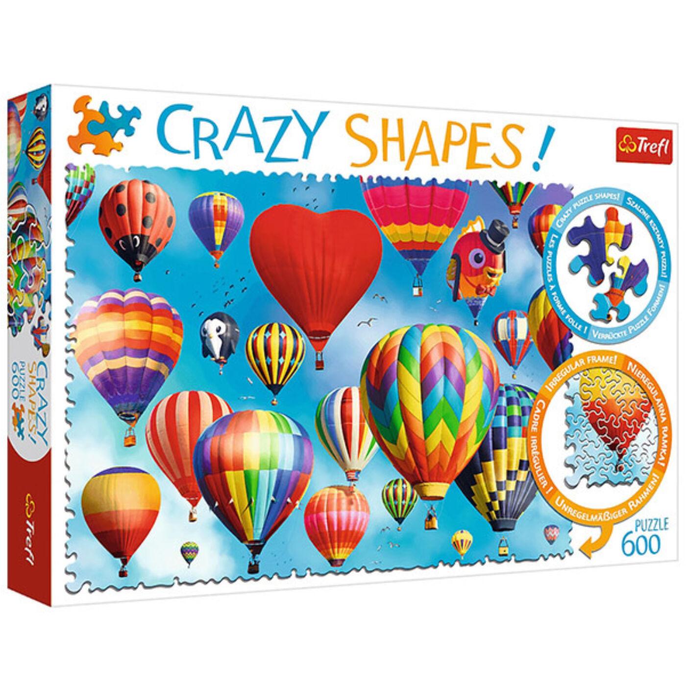 Trefl 600 db-os puzzle - Színes hőlégballonok